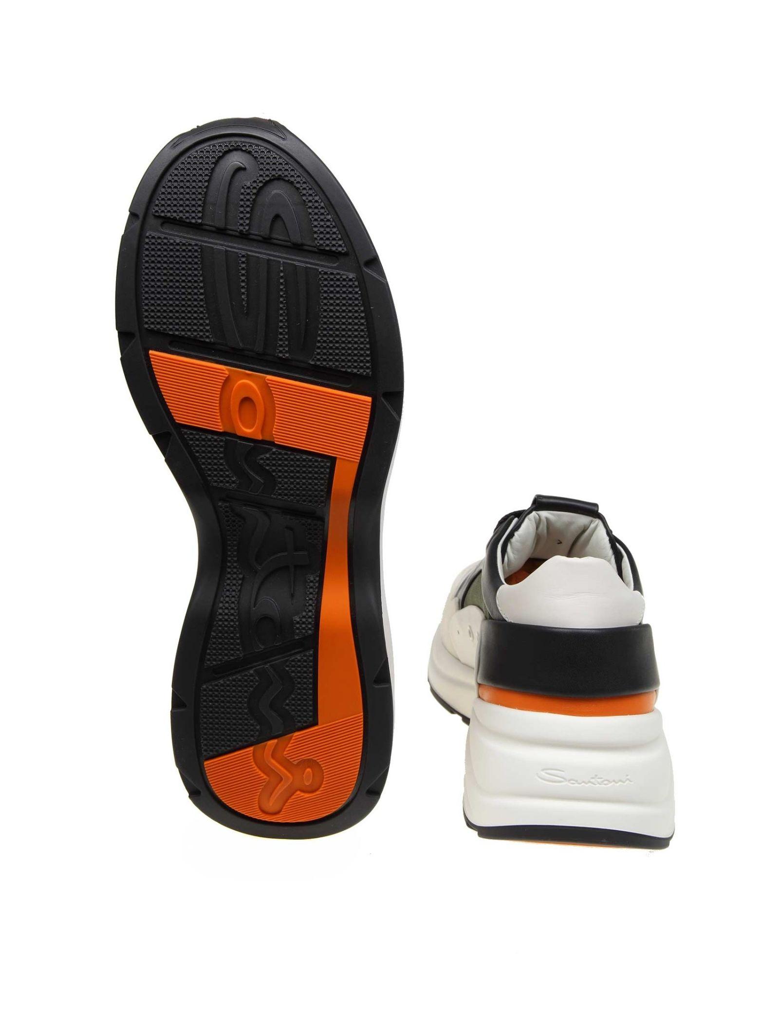 3ee835e6cee Santoni Santoni Sneakers In Fabric And Suede - WHITE - 10840250 ...