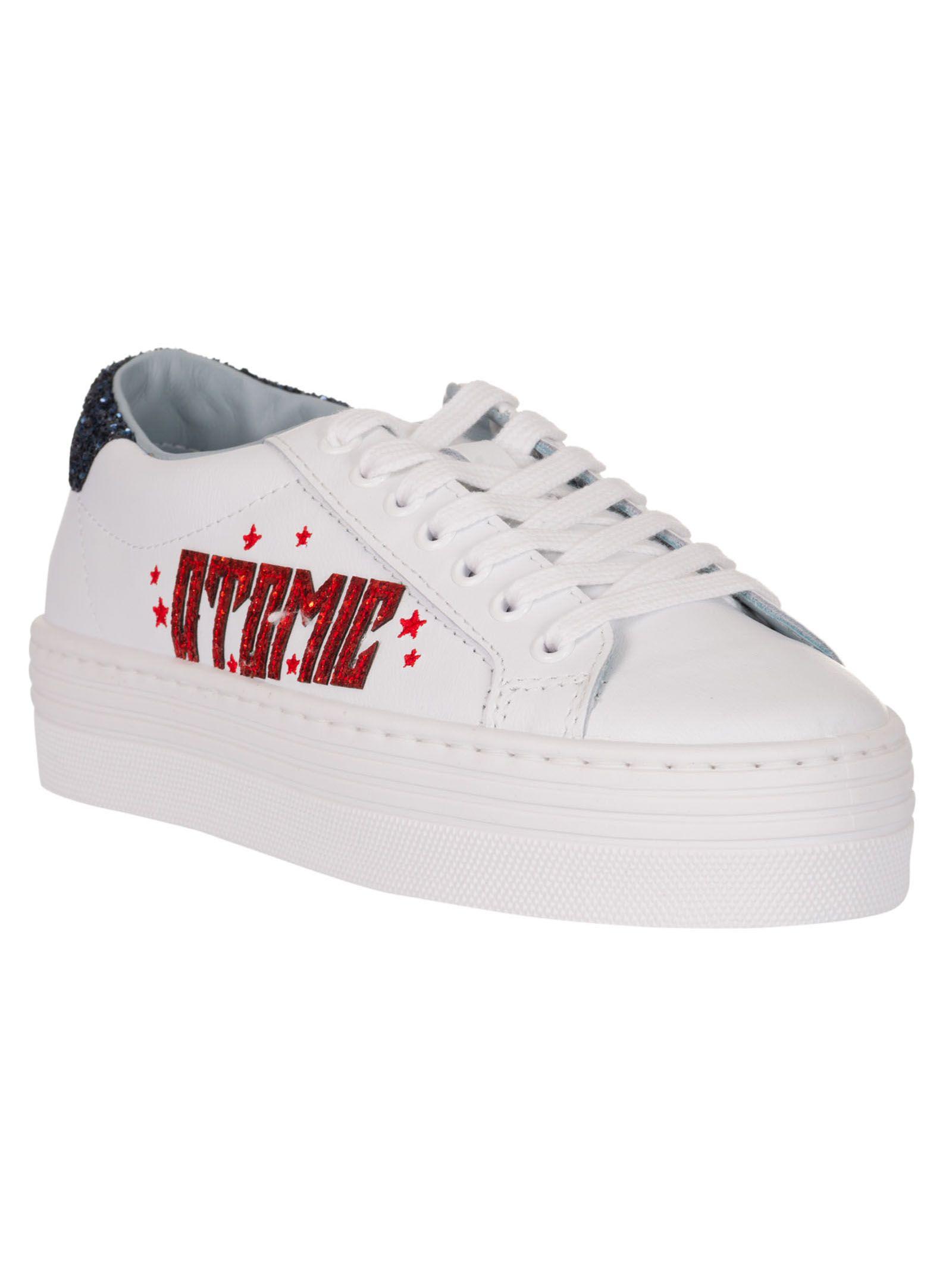 33a95654d78 Chiara Ferragni Chiara Ferragni Atomic Platform Sneakers - White ...