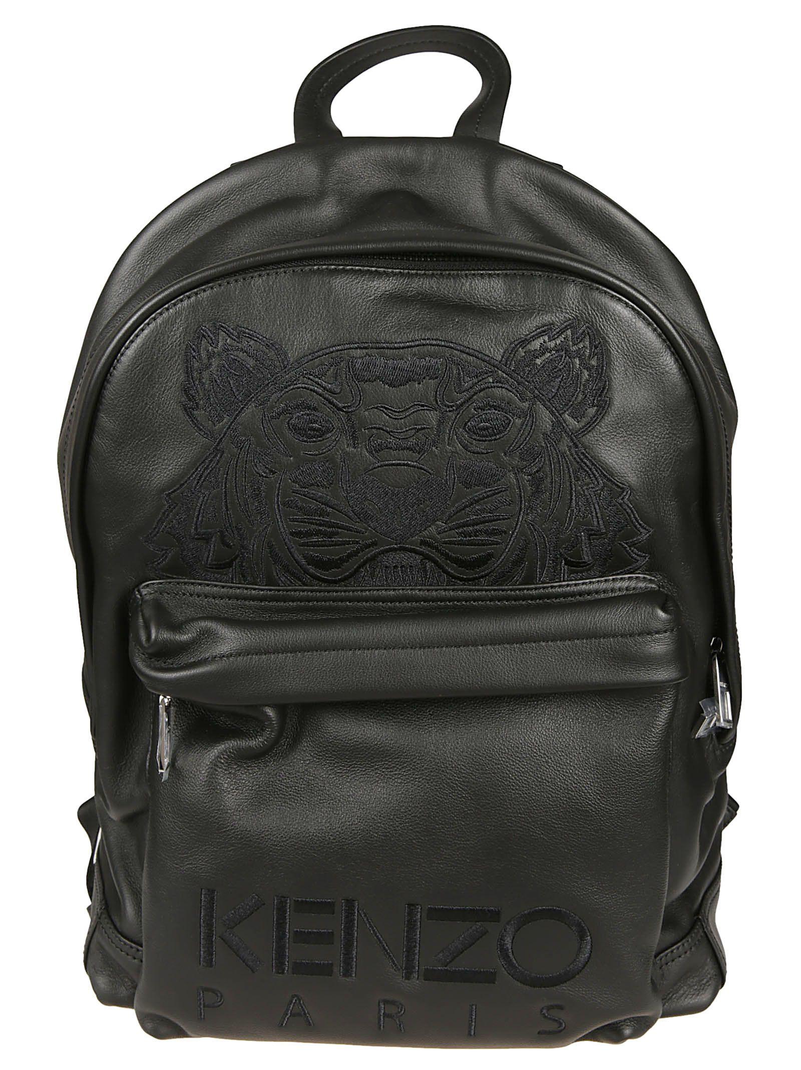 048cc8e33d Kenzo Embroidered Tiger Logo Backpack - Black ...