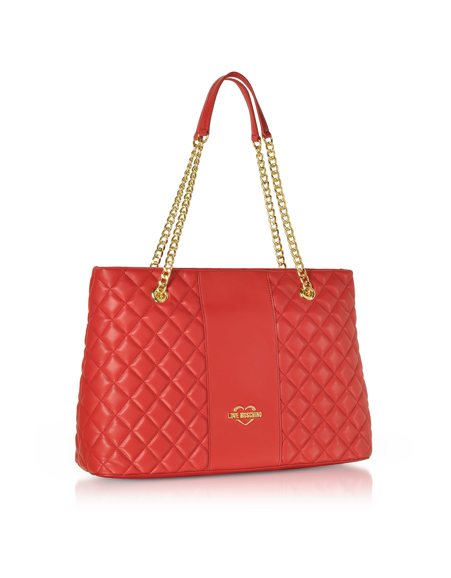 6576e4eae0d87 Love Moschino Love Moschino Quilted Eco Leather Tote Bag - Red ...
