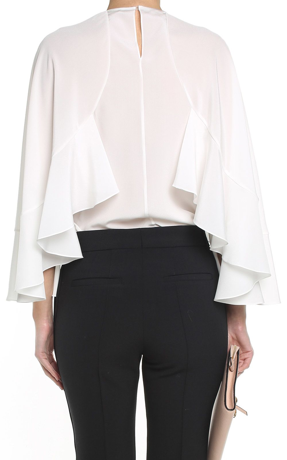 f7c8b1708885b See by Chloé See by Chloé Batwing-sleeve Silk Blouse - White ...