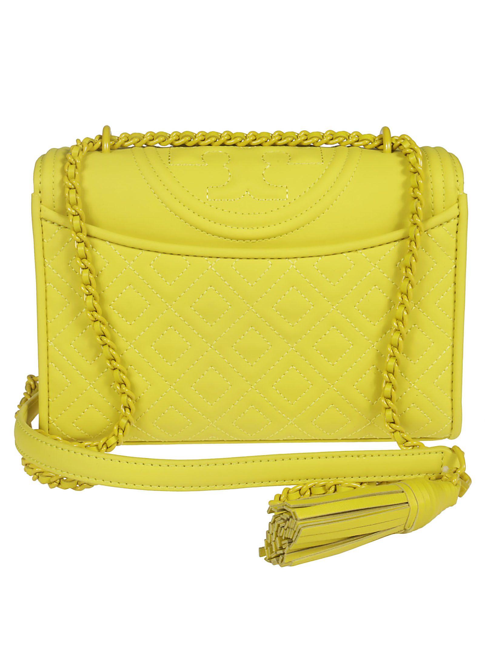749240ce3e Tory Burch Tory Burch Fleming Embossed Logo Shoulder Bag - yellow ...