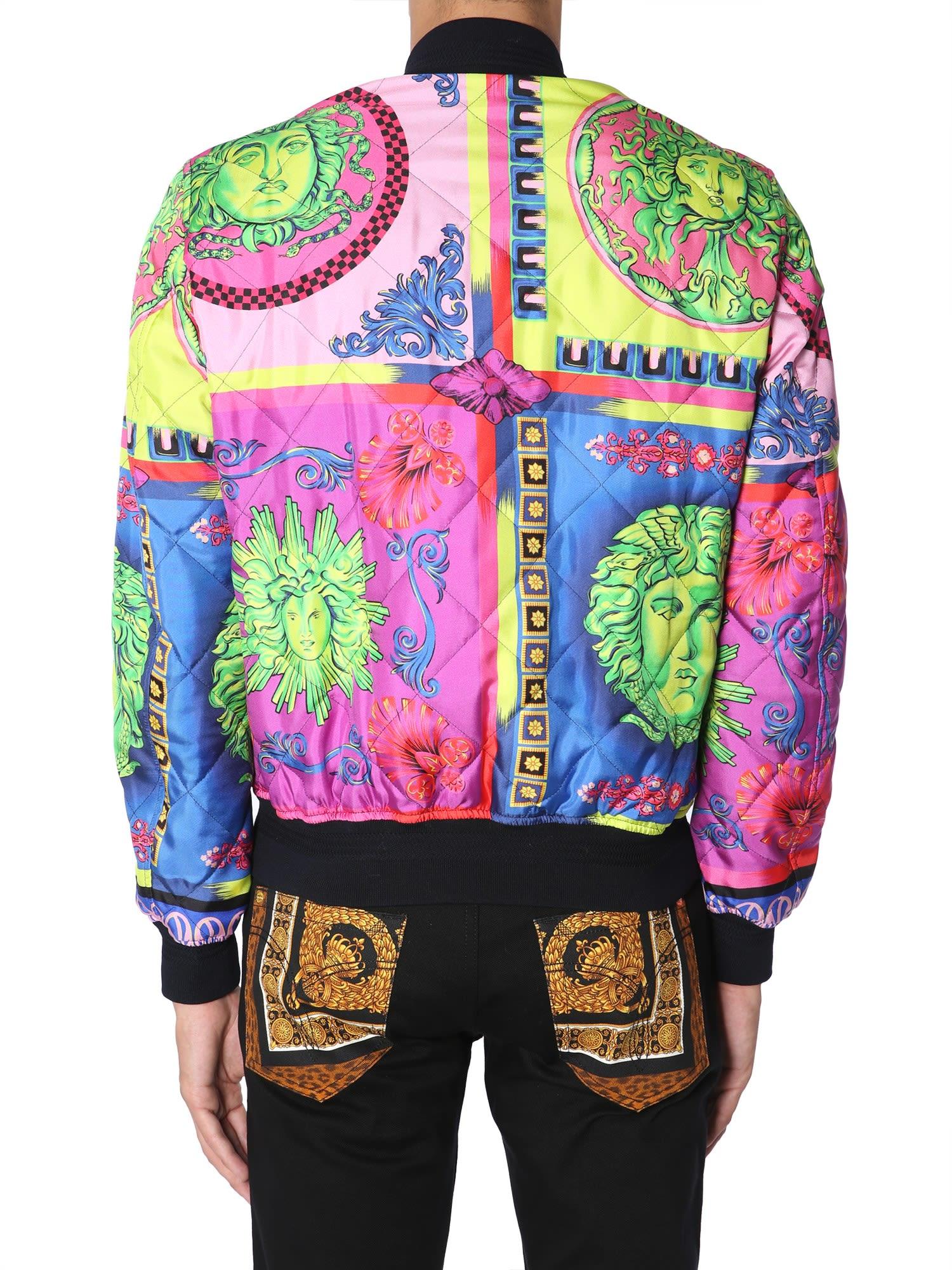 Versace Versace Silk Bomber Jacket Bianco 10704536 Italist
