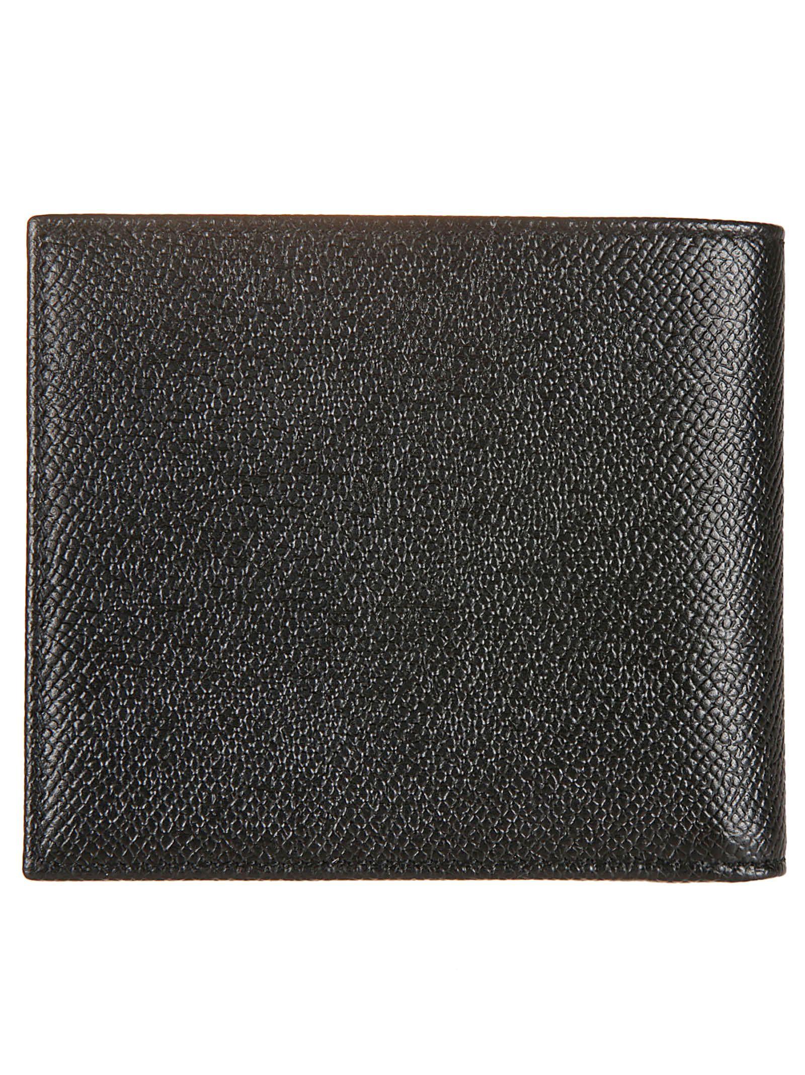 Dolce Wallet Bifold Black Logo Gabbana Plaque HIprH1