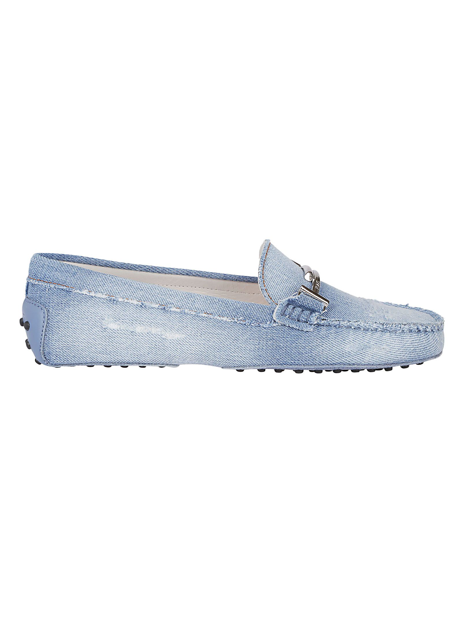 55374ab5d6f Tod s Tod s Distressed Denim Loafers - Blue - 10813876