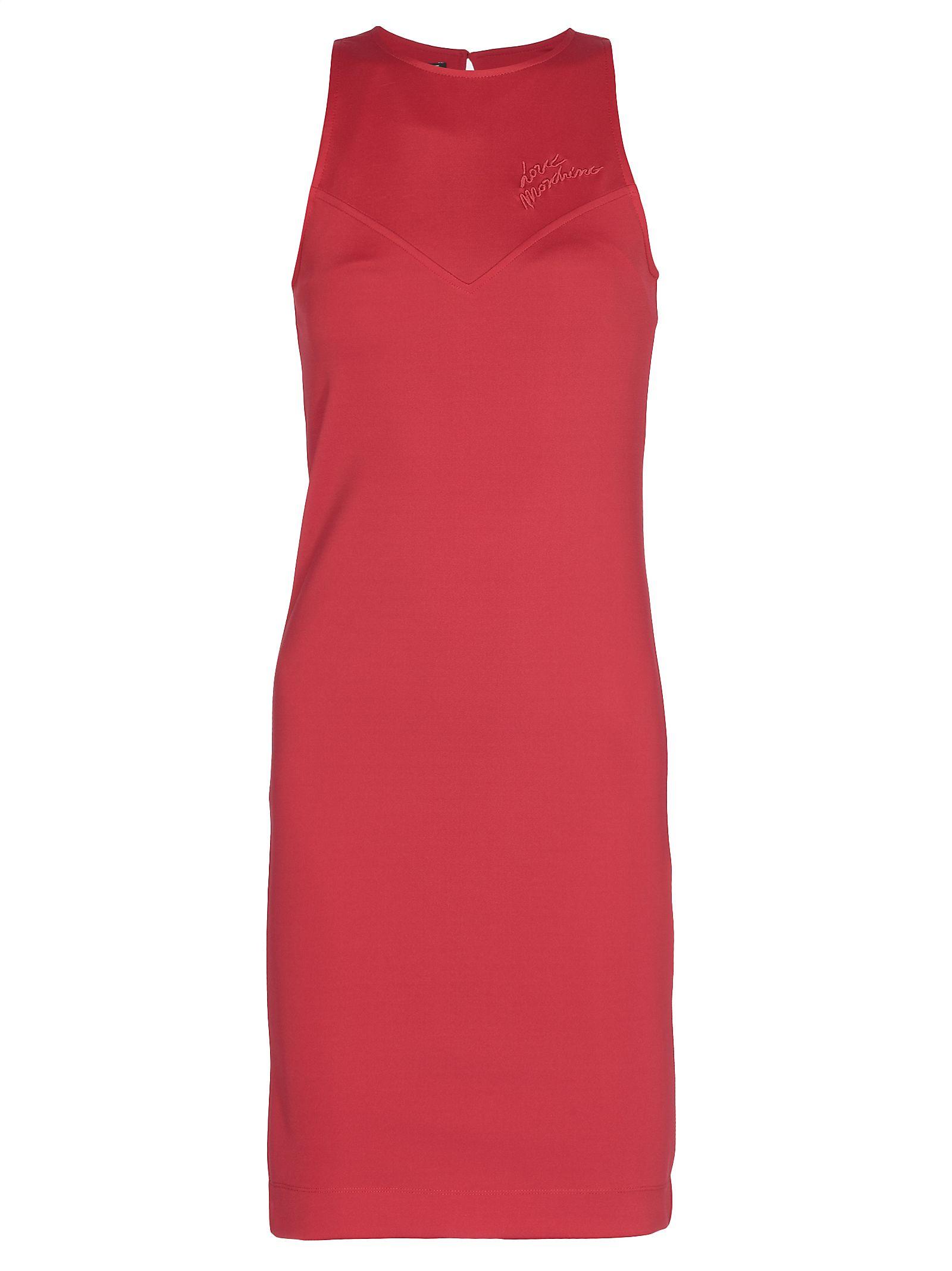 Love Moschino Love Moschino Plain Color Dress - RED - 10784768  b0dbdd51355