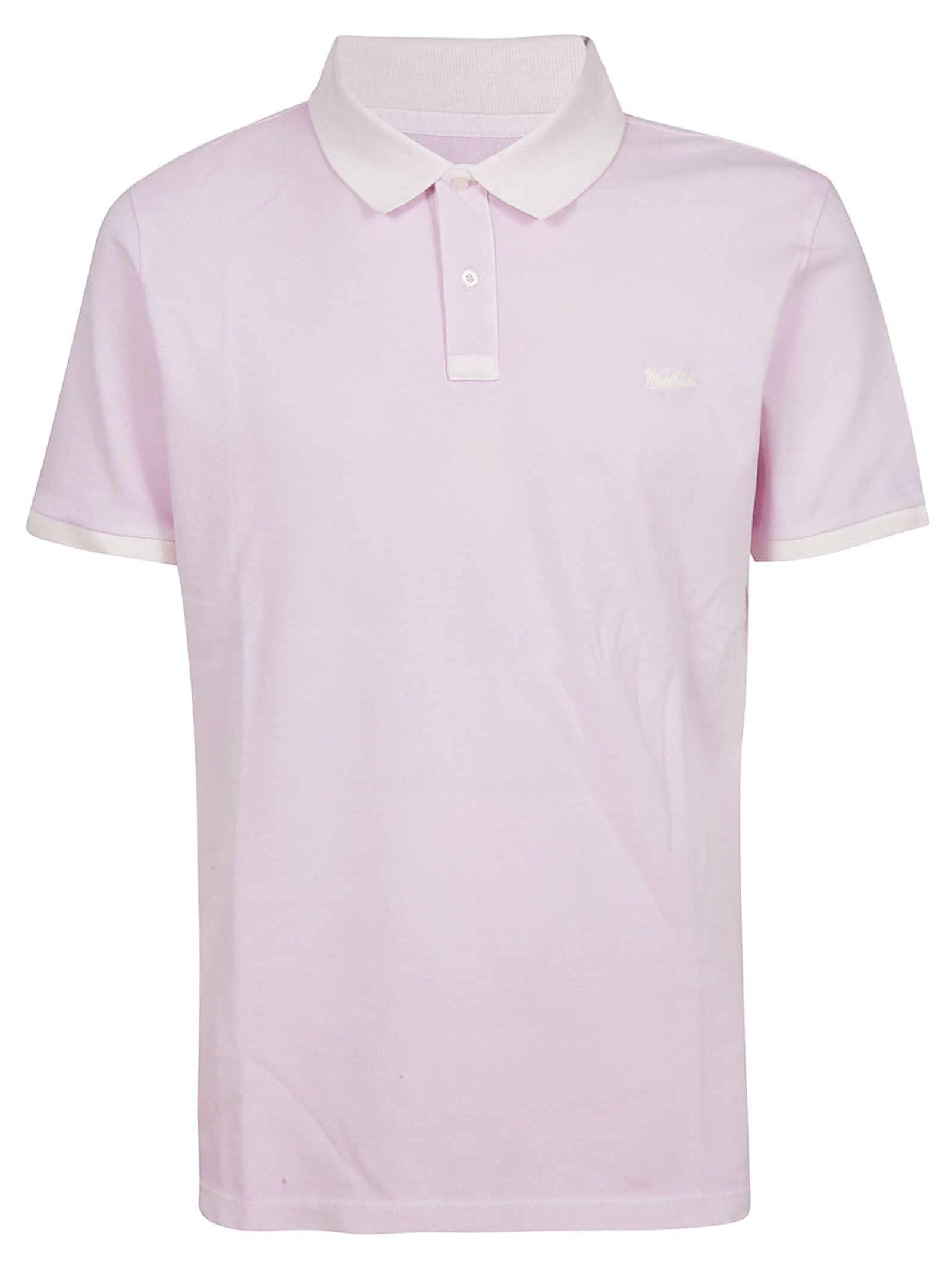 b4134582078952 Woolrich Woolrich Logo Embroidered Polo Shirt - Rosa - 10847066 ...