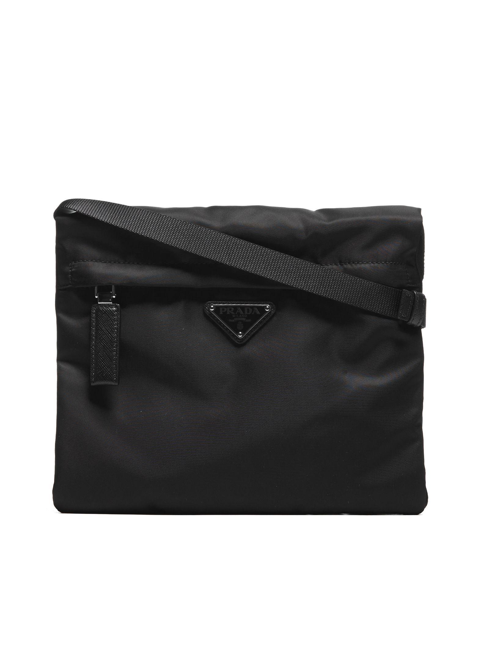 b3987b9af5aa33 Prada Prada Logo Patch Shoulder Bag - Black - 10699131 | italist
