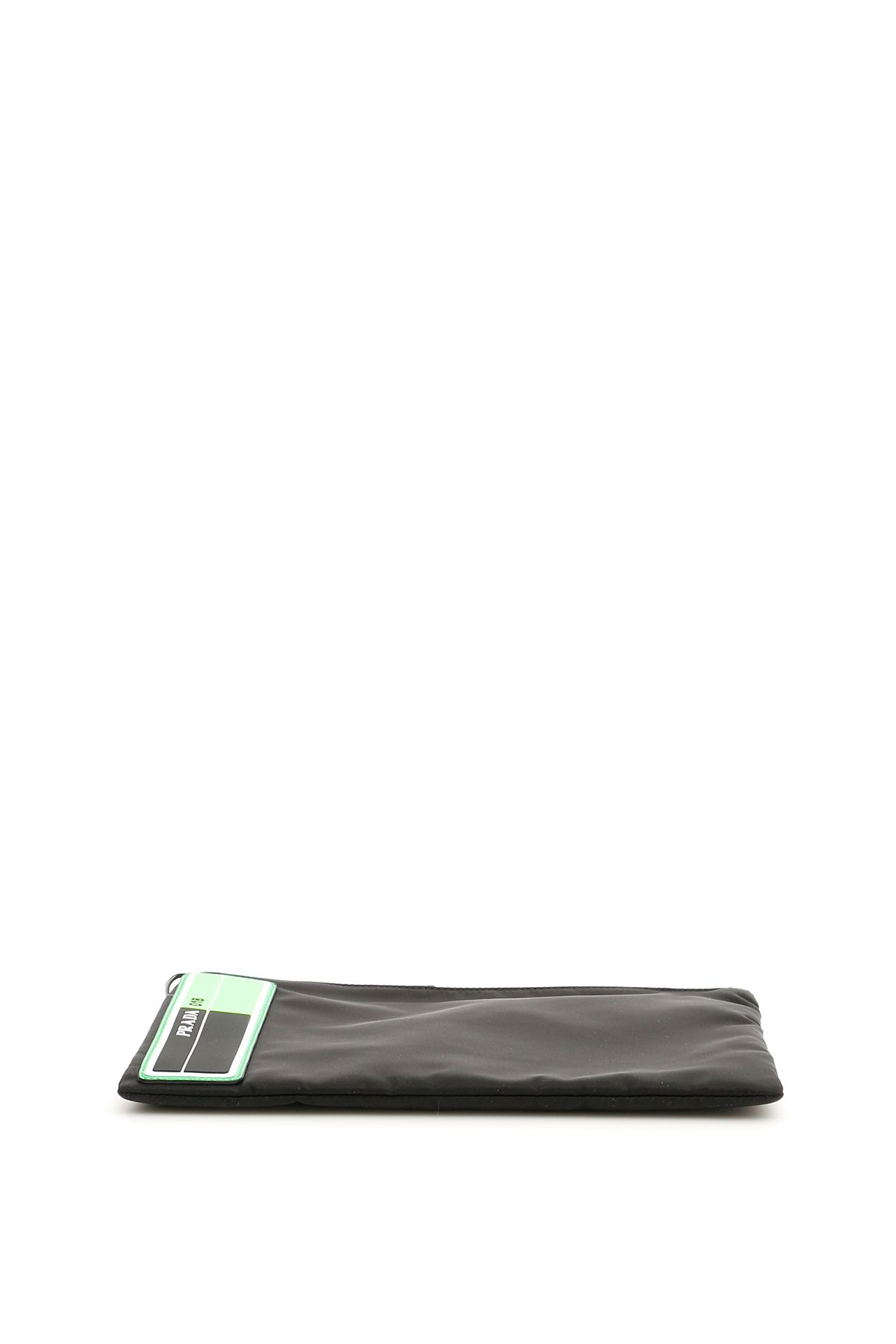 8430a266cd2f Prada Prada Flat Pouch With Wristlet - NERO VERDE FLUO (Black ...