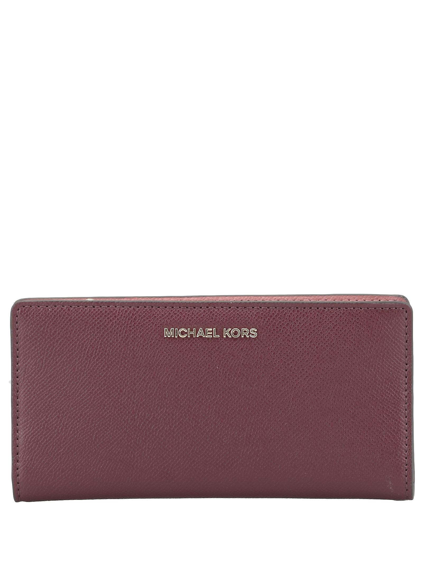 957b47bf4cbc77 MICHAEL Michael Kors MICHAEL Michael Kors Leather Card Case - ROSE ...