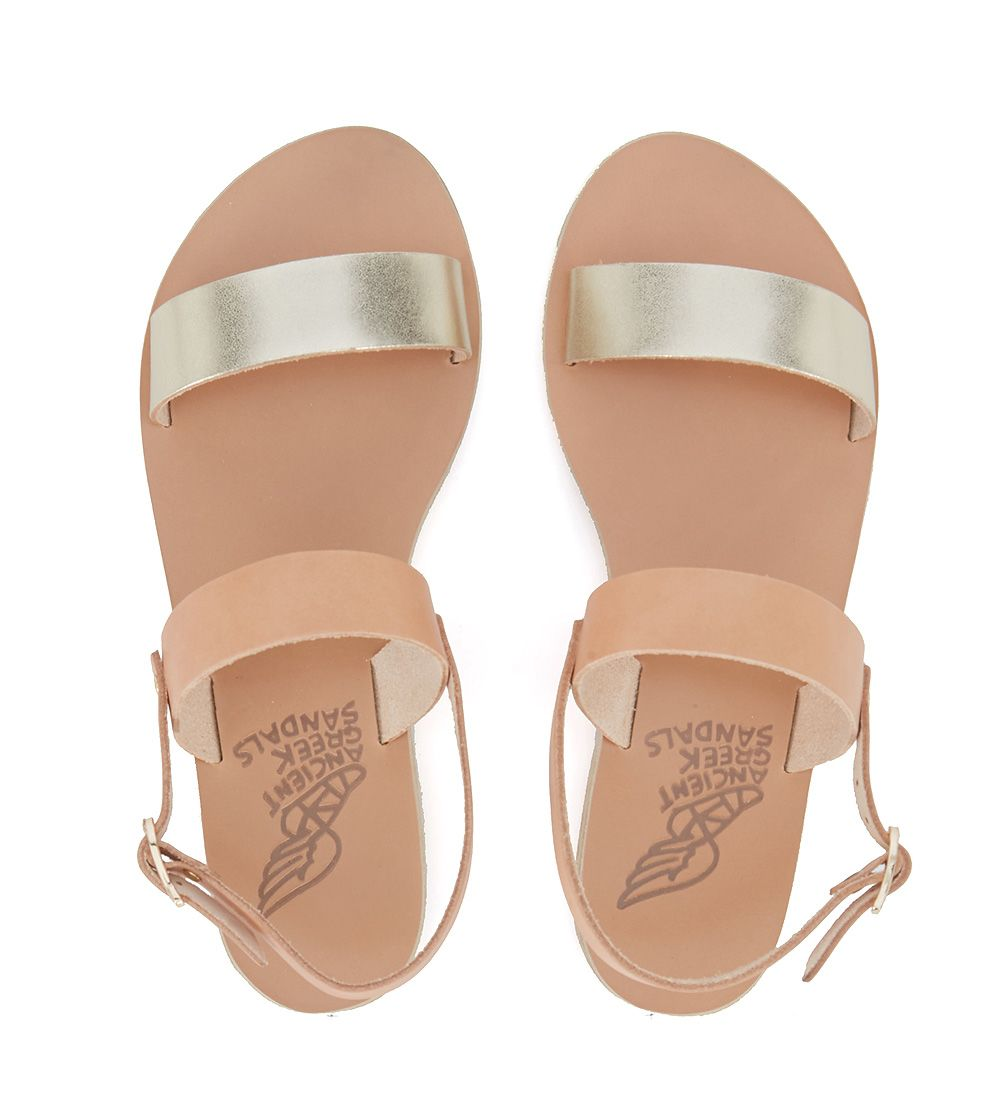 526625cb1a50 ... Ancient Greek Sandals Clio Natural And Gold Leather Sandal - Gold ...