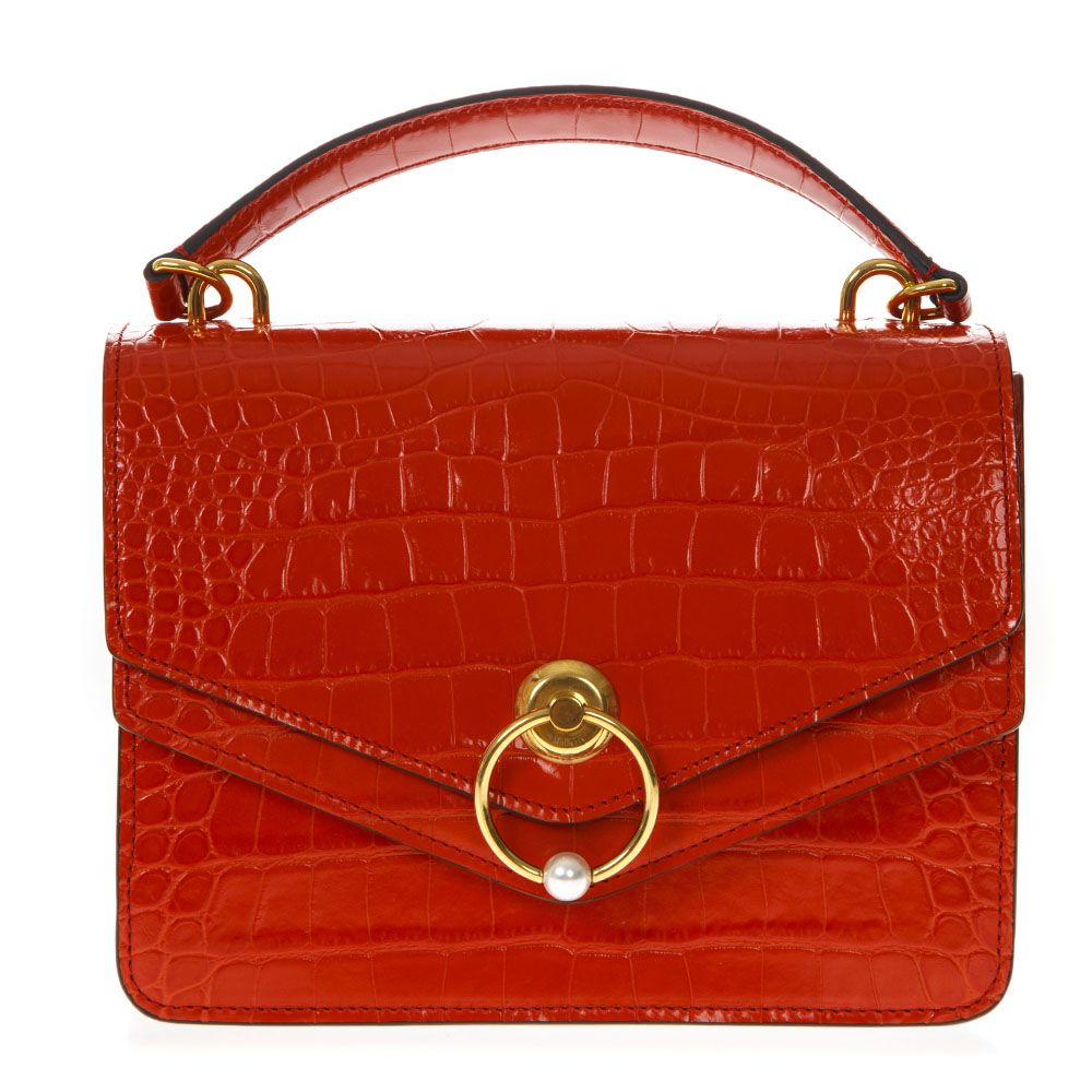 6a95f41a9517 Mulberry Mulberry Harlow Red Embossed Leather Handbag - Hibiscus red ...