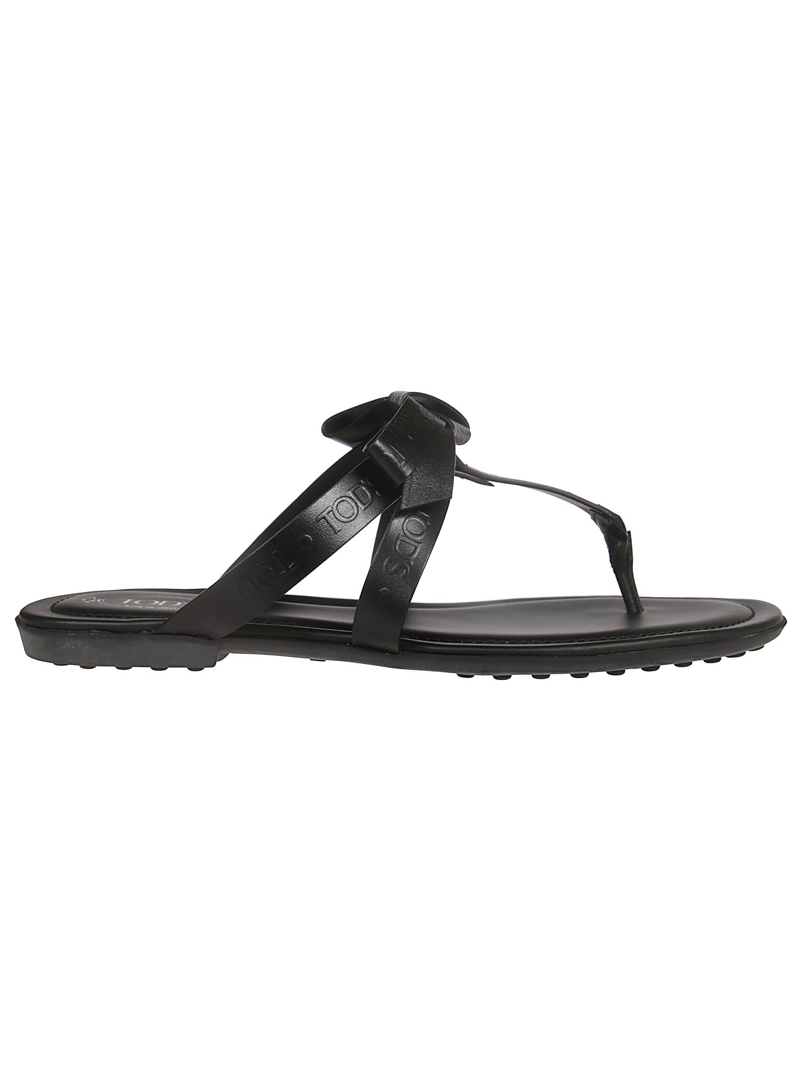 fd65789ca Tod's Tod's Bow Strap Slippers - Black - 10930621 | italist