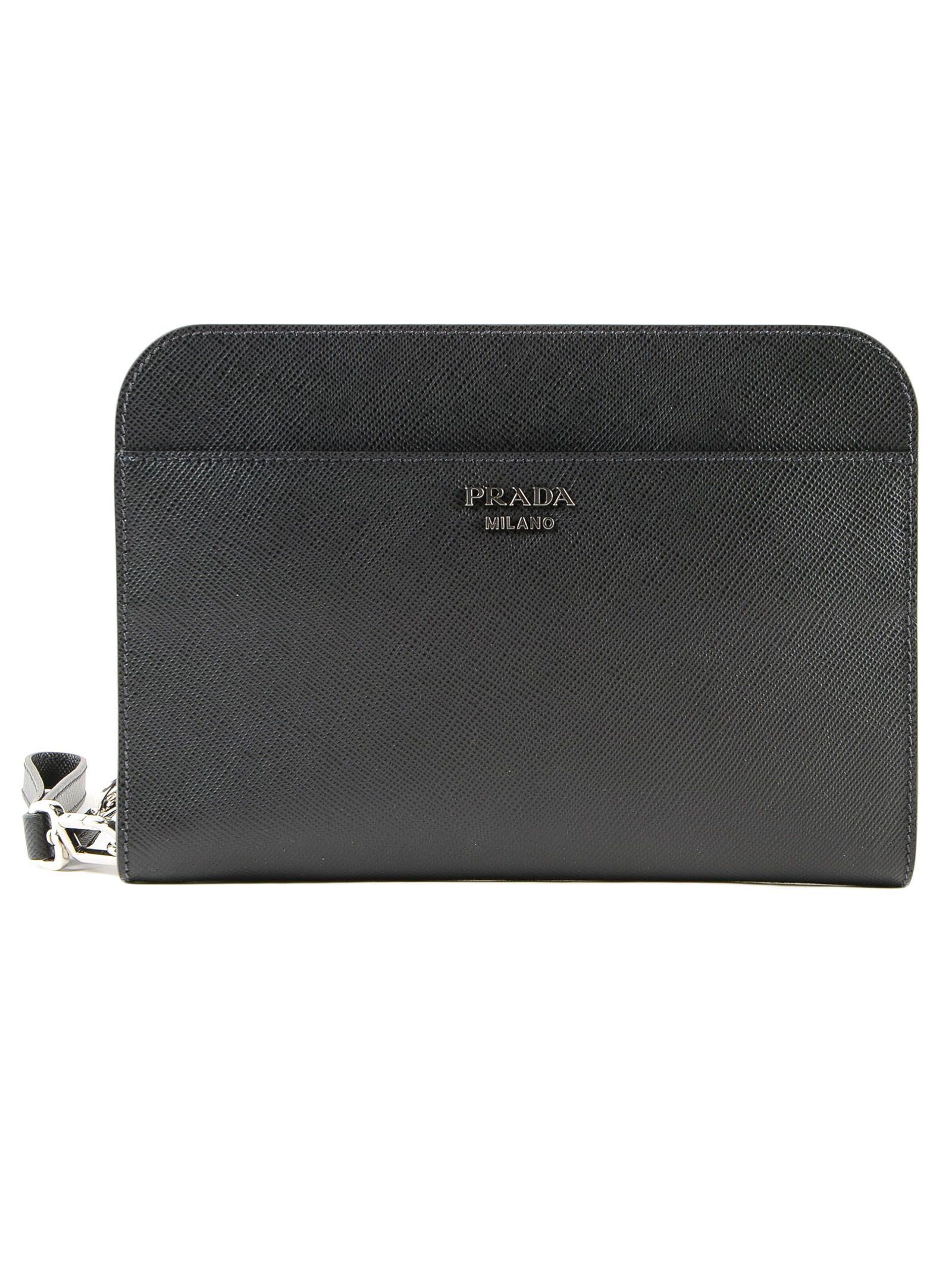 427781efbad1 Prada Prada Logo Clutch - Nero - 10773135   italist