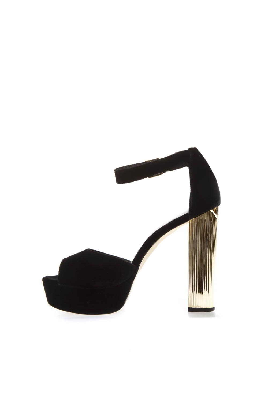 ee14388cd13 ... MICHAEL Michael Kors Black Velvet Platform Sandals Paloma - Black