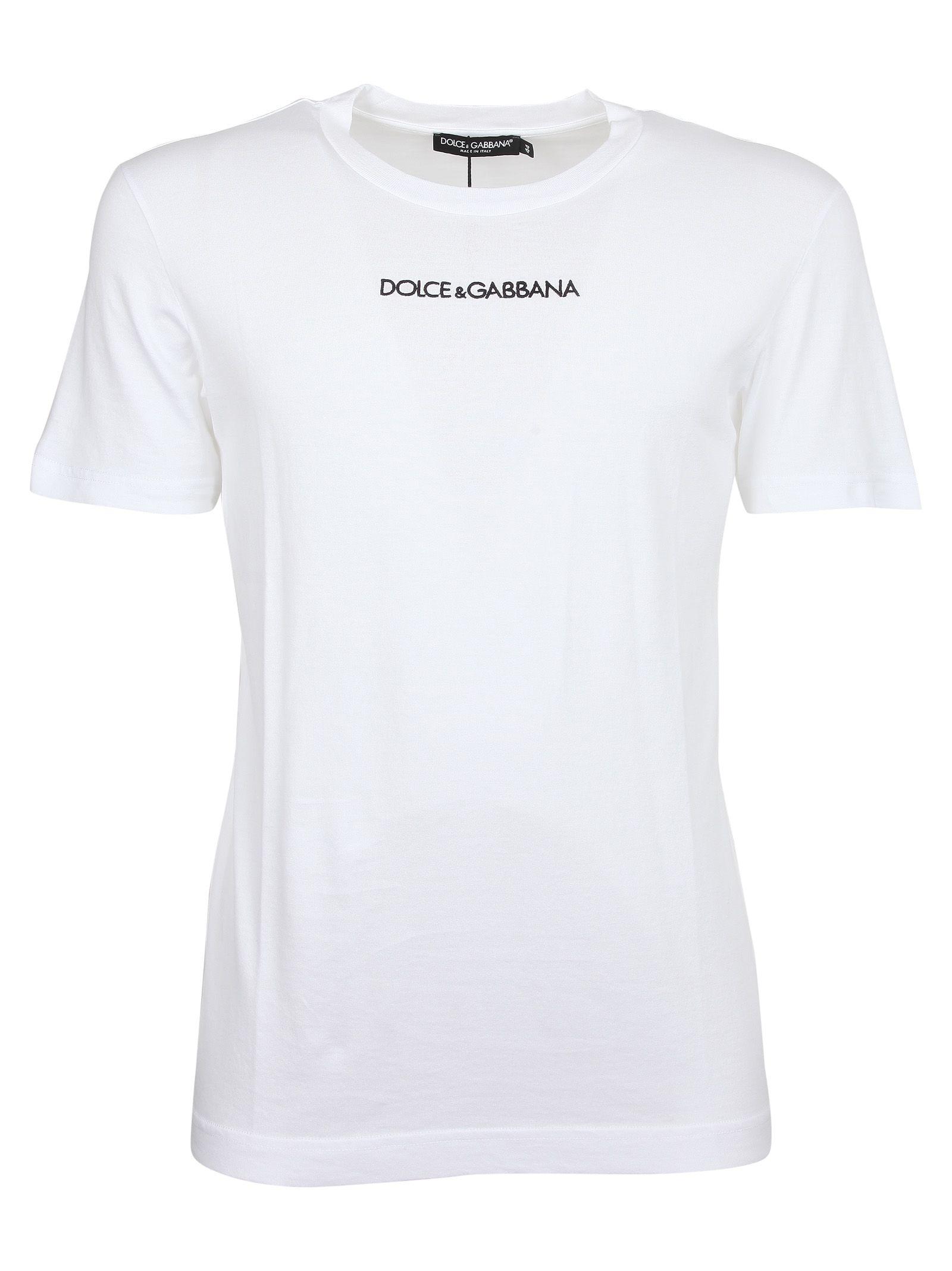 14ced86c Dolce & Gabbana Dolce & Gabbana Logo Print T-shirt - Bianco Ottico ...