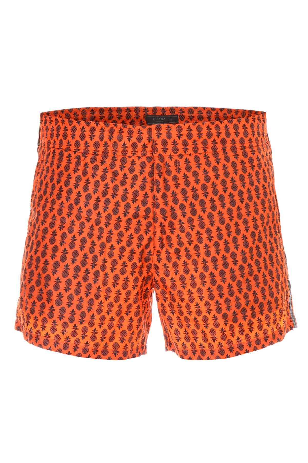 bdc87ff37c9ee Prada Linea Rossa Tropical Nylon Swim Shorts - ARANCIO+NERO (Orange) ...