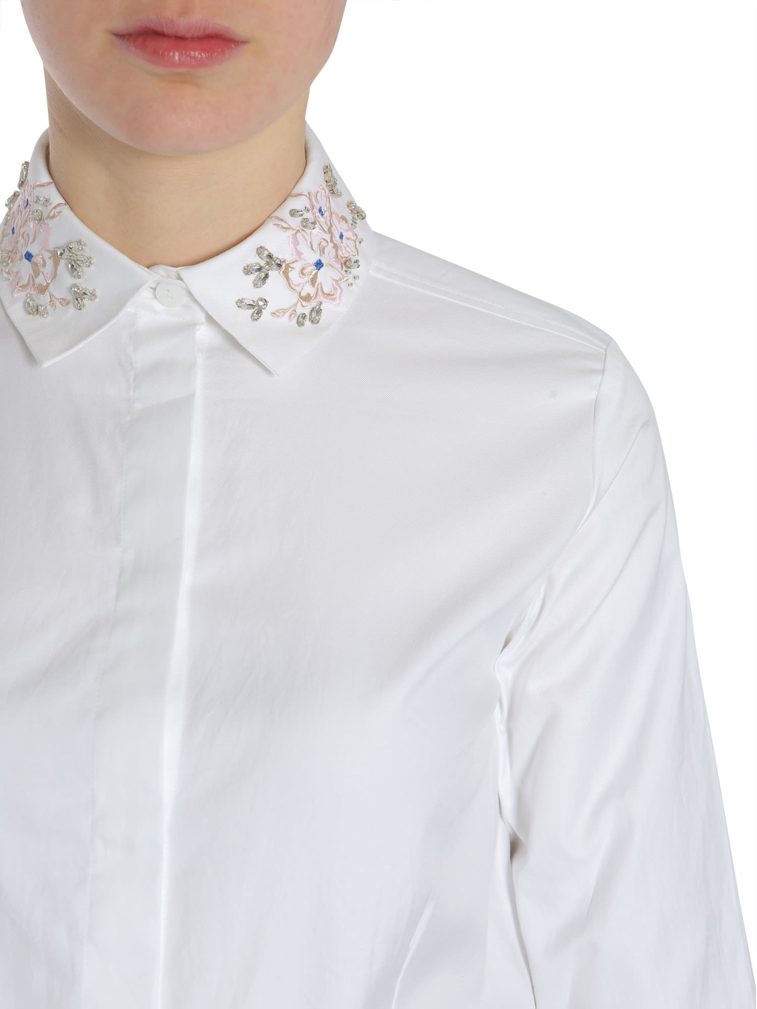 Carven Carven Shirt With Embroidered Collar Rosa 10040683 Italist