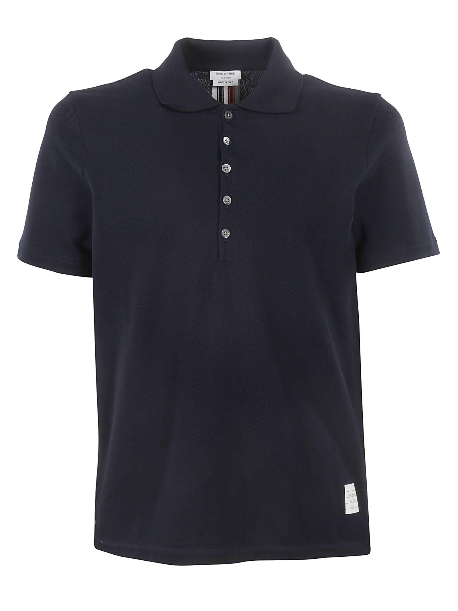 556f7861 Thom Browne Thom Browne Signature Stripe Polo Shirt - BLUE ...