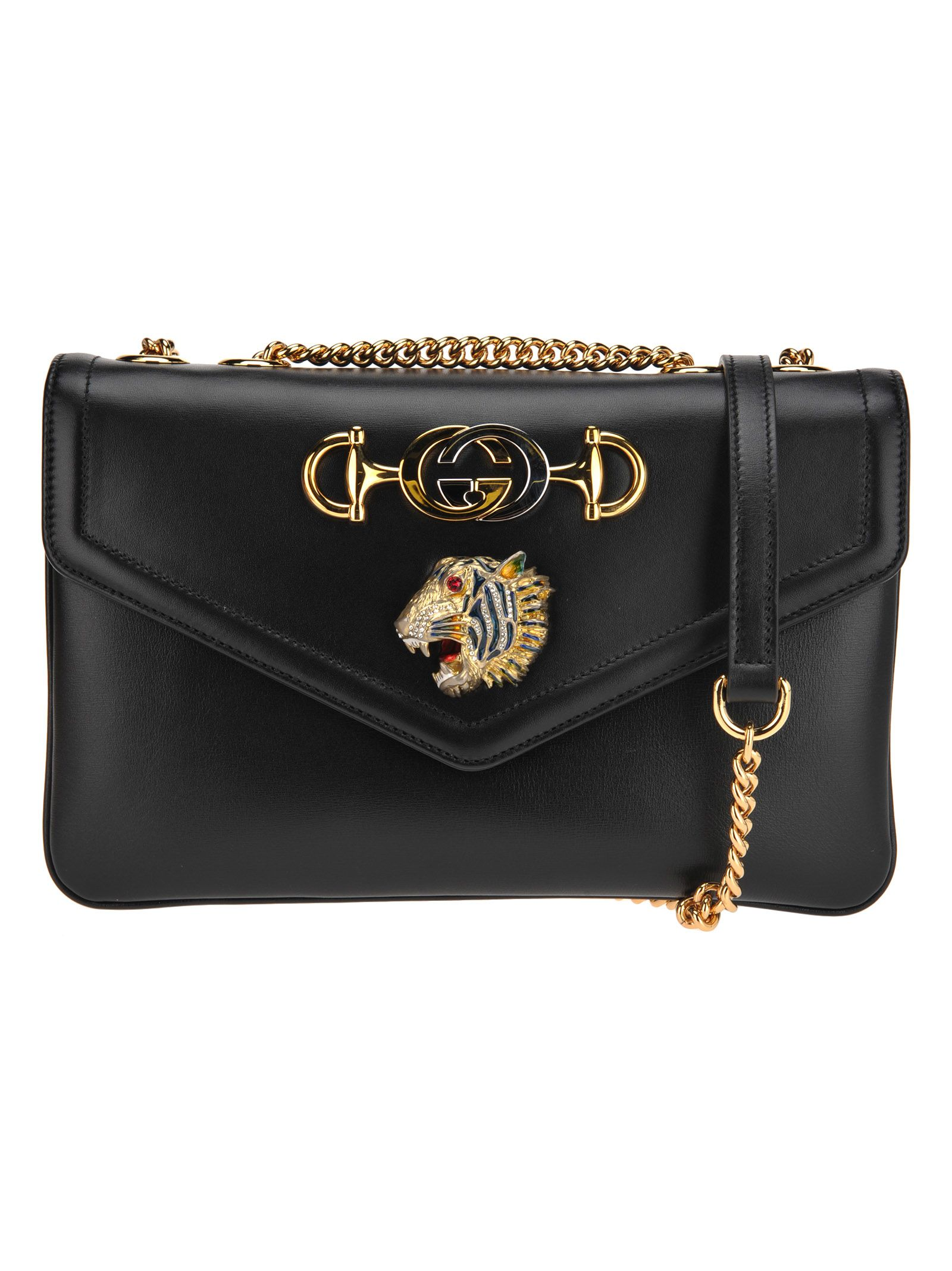 6aeb5678f1f1 Gucci Gucci Small Shoulder Bag Rajah - BLACK - 10923820
