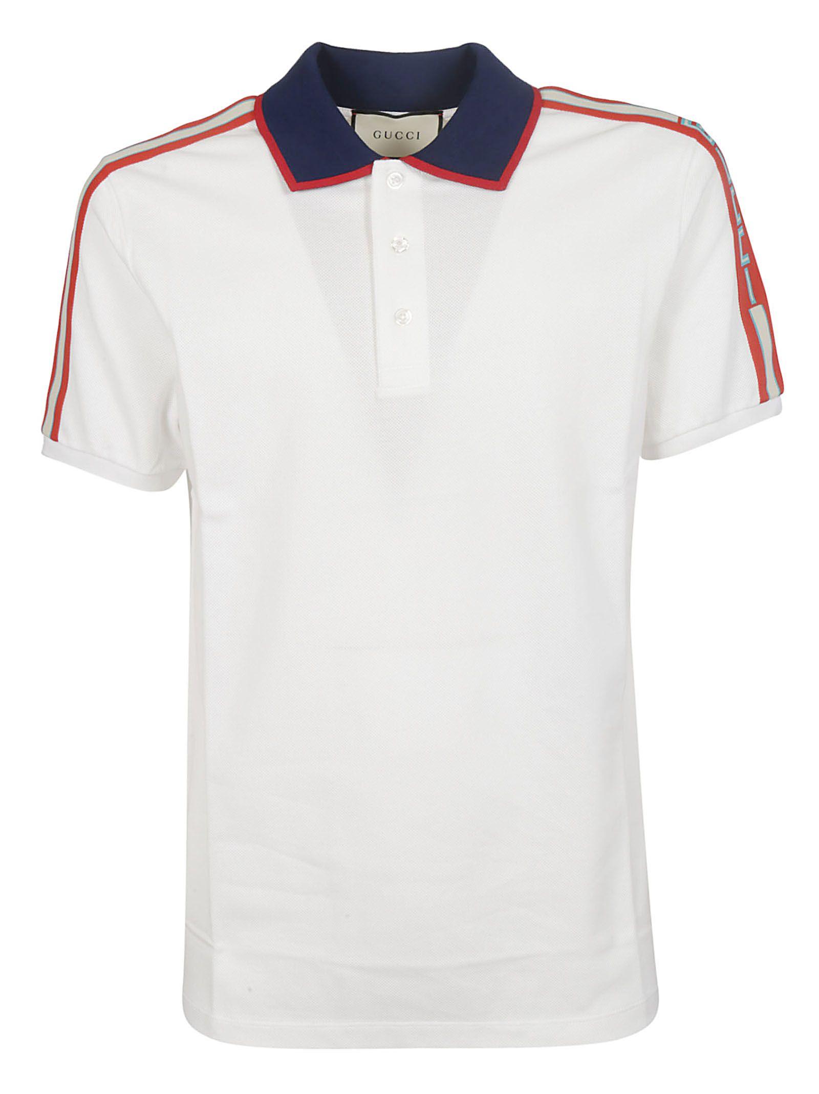 7e002e0965d85b Gucci Gucci Side Striped Polo Shirt - White - 10860137
