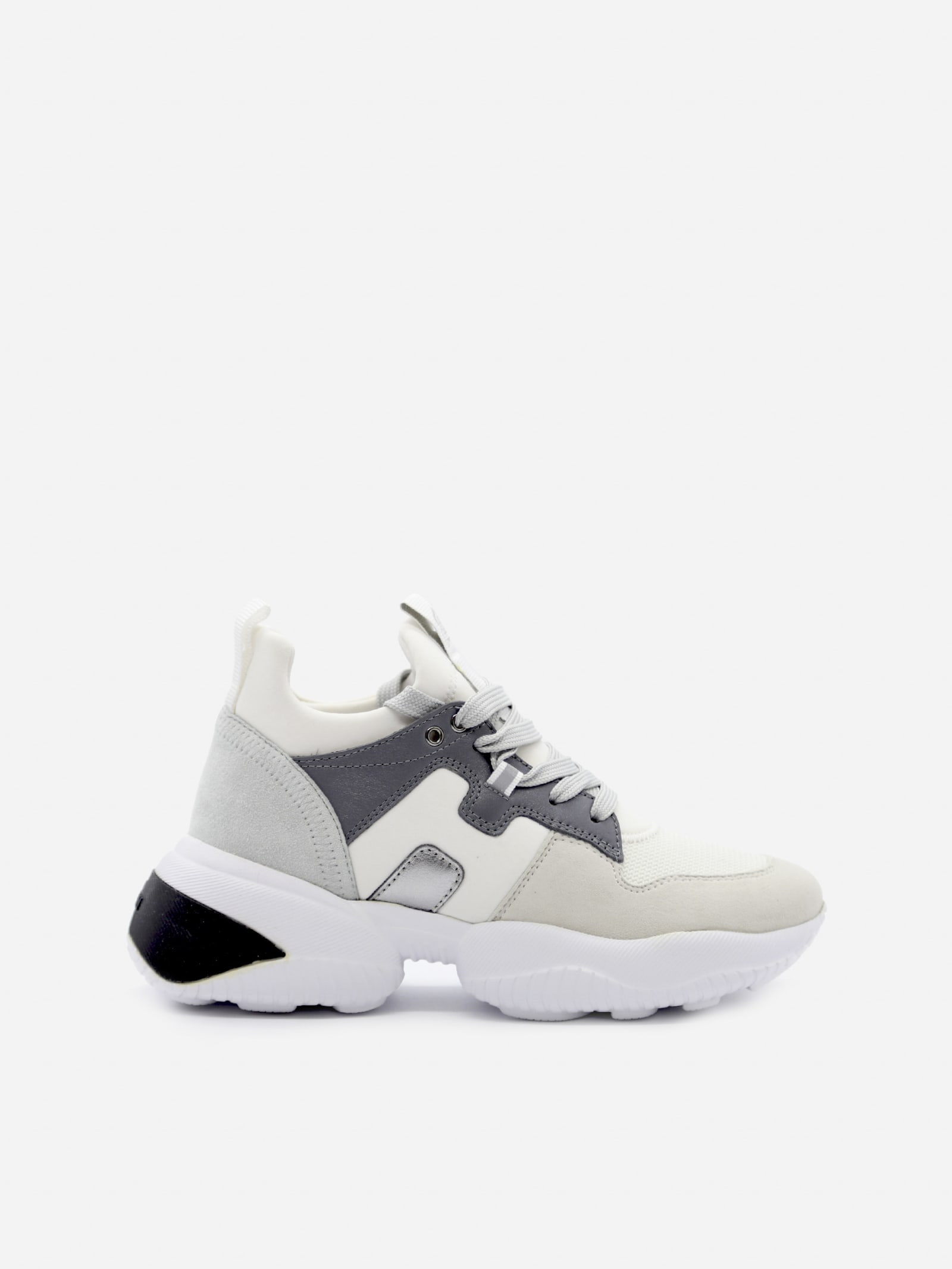 Hogan Interaction Sneakers In Leather And Suede   italist