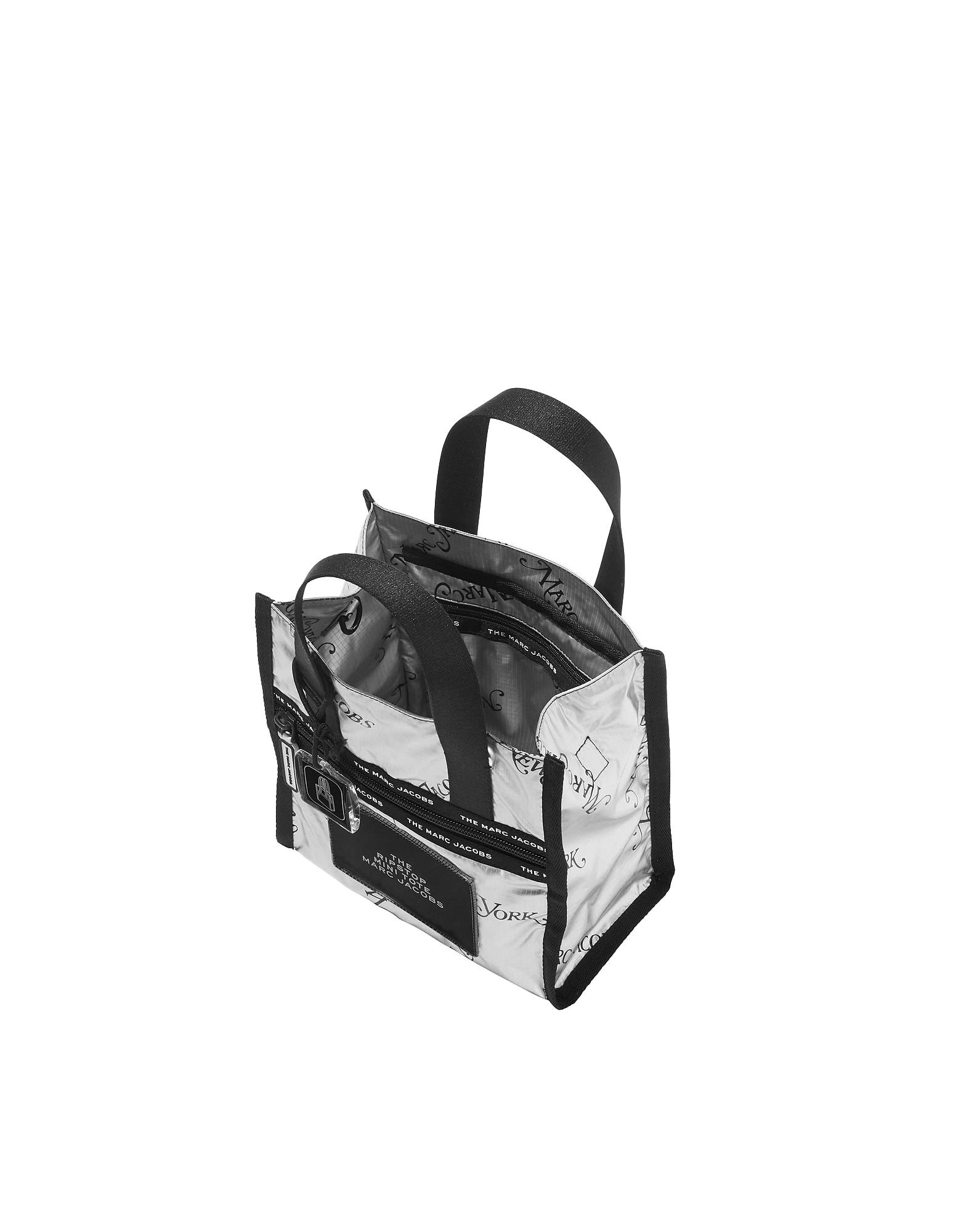 Best price on the market at italist   Marc Jacobs Marc Jacobs The Ripstop  Ny Mag Metallic Nylon Mini Tote