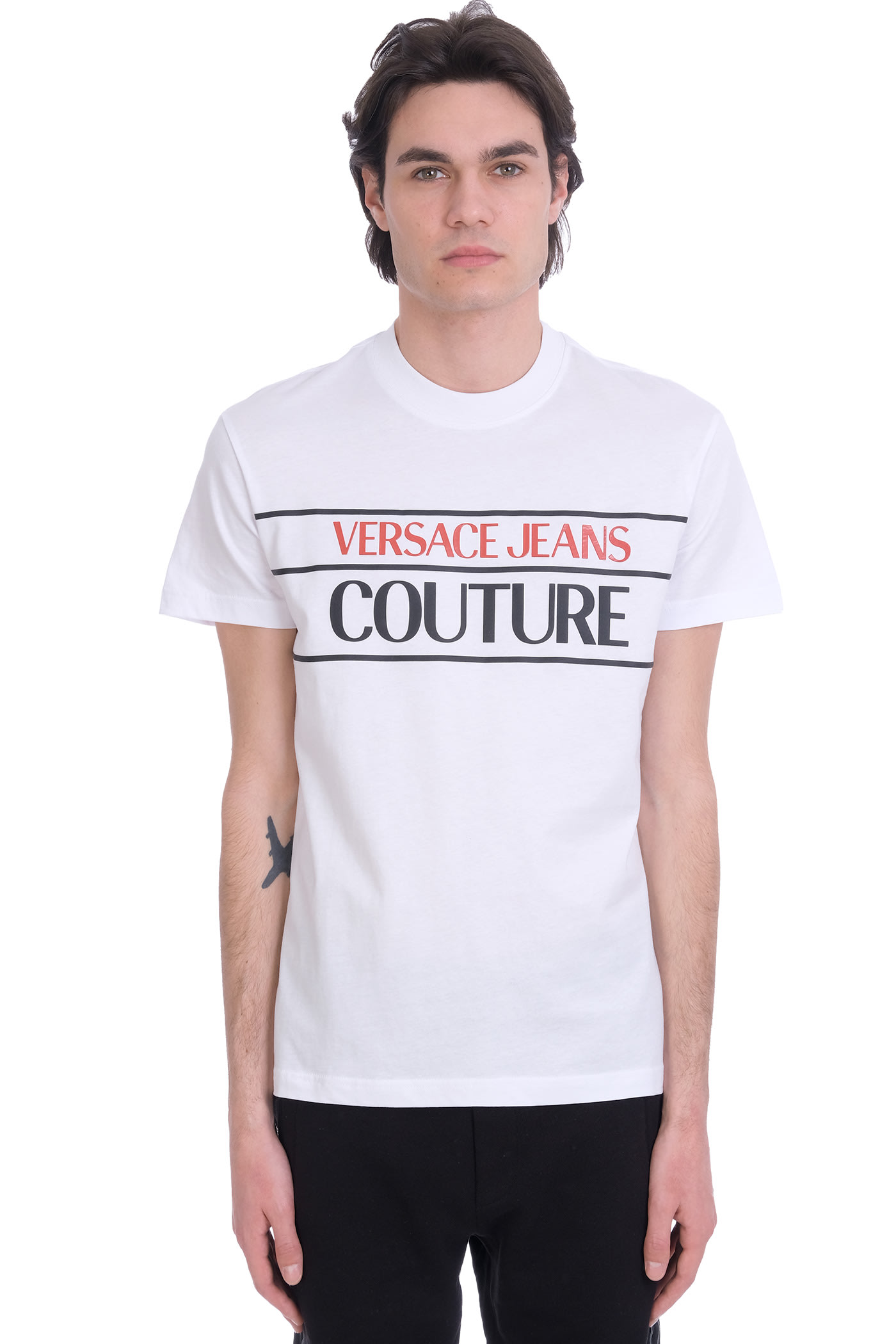 Details about  /Versace Jeans Couture White 100/% Cotton Long Sleeve Polo Shirt