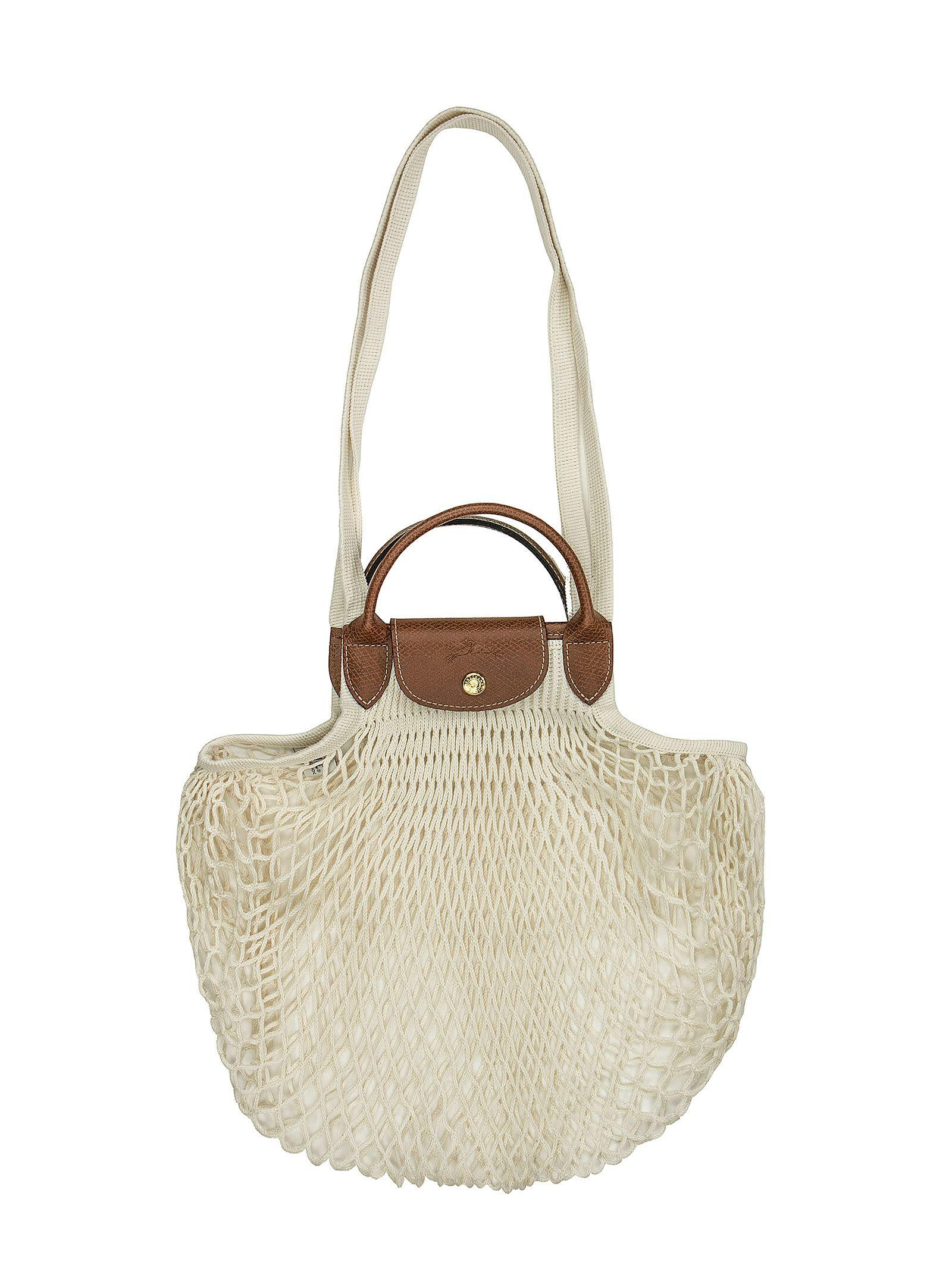 Best price on the market at italist | Longchamp Longchamp Le Pliage Filet -  Top Handle Bag
