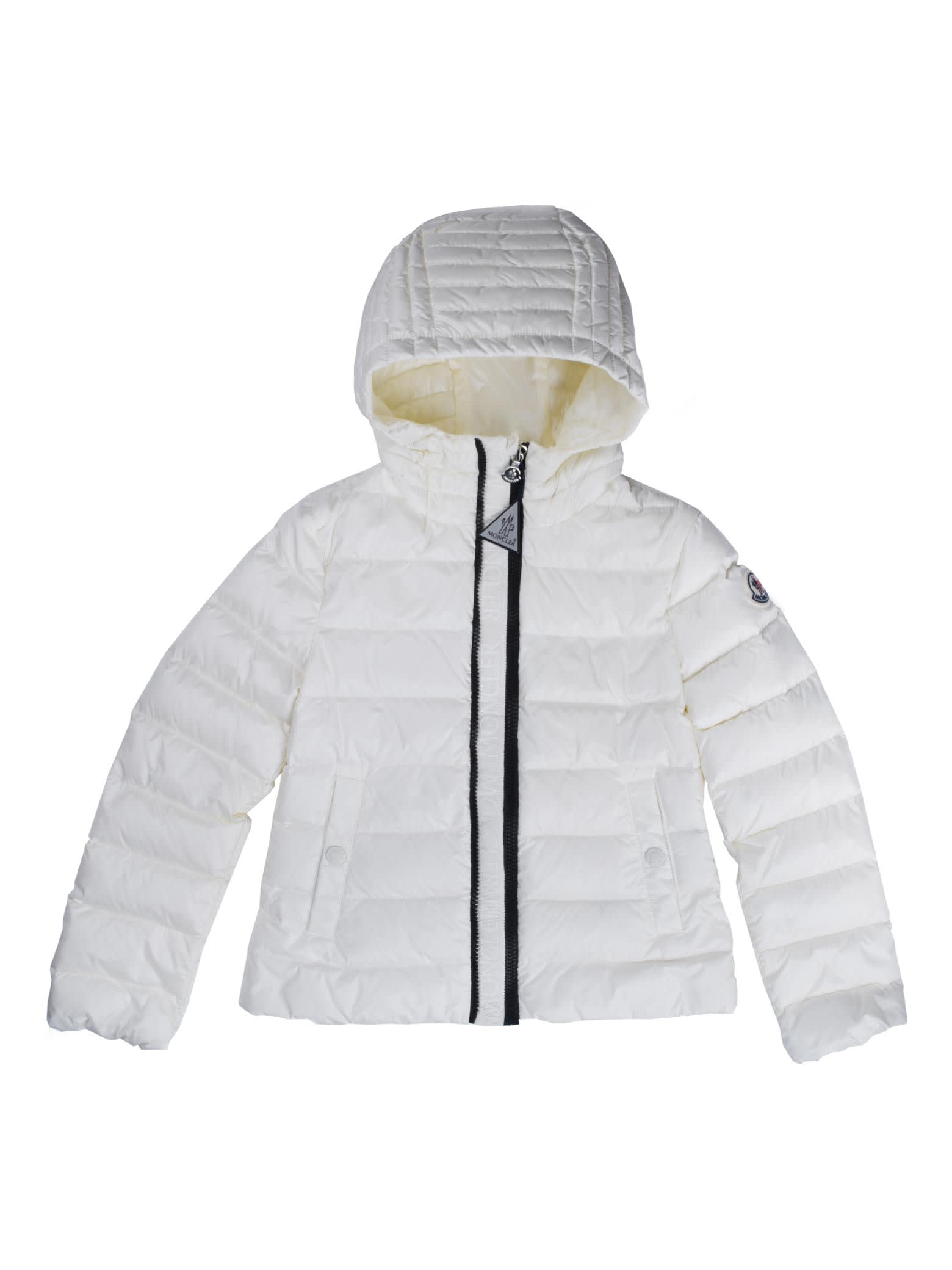 Moncler Ivory Glyvine Down Jacket With Hood