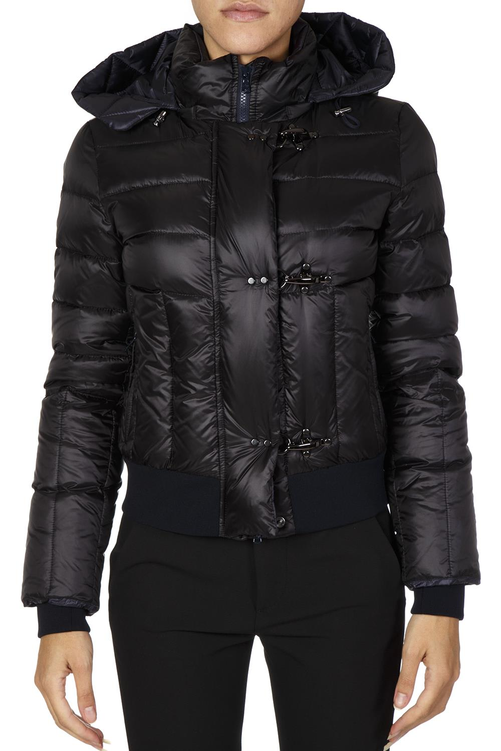 Fay Black Jacket In Polyamide