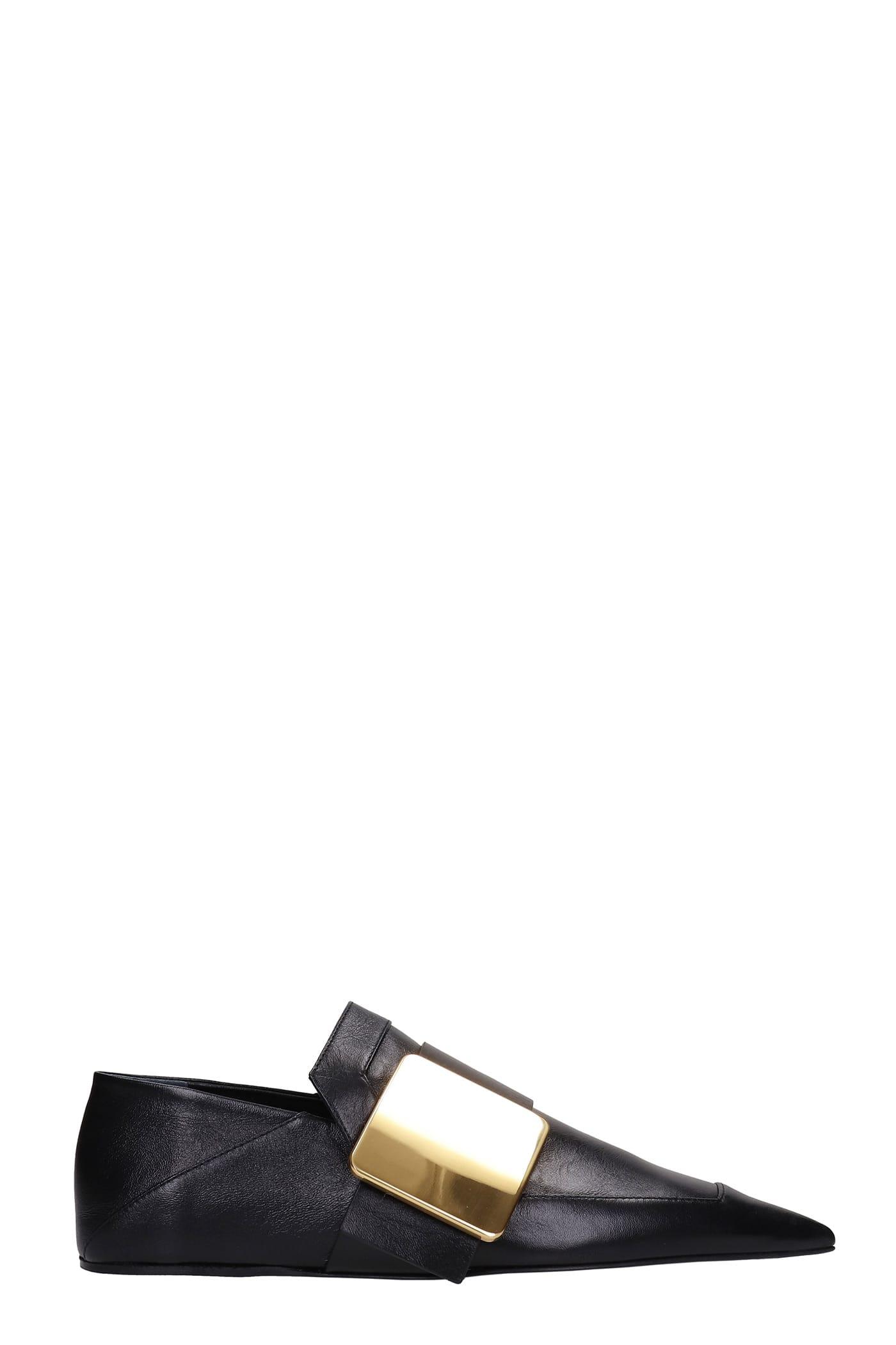 Buy Jil Sander Loafers In Black Leather online, shop Jil Sander shoes with free shipping