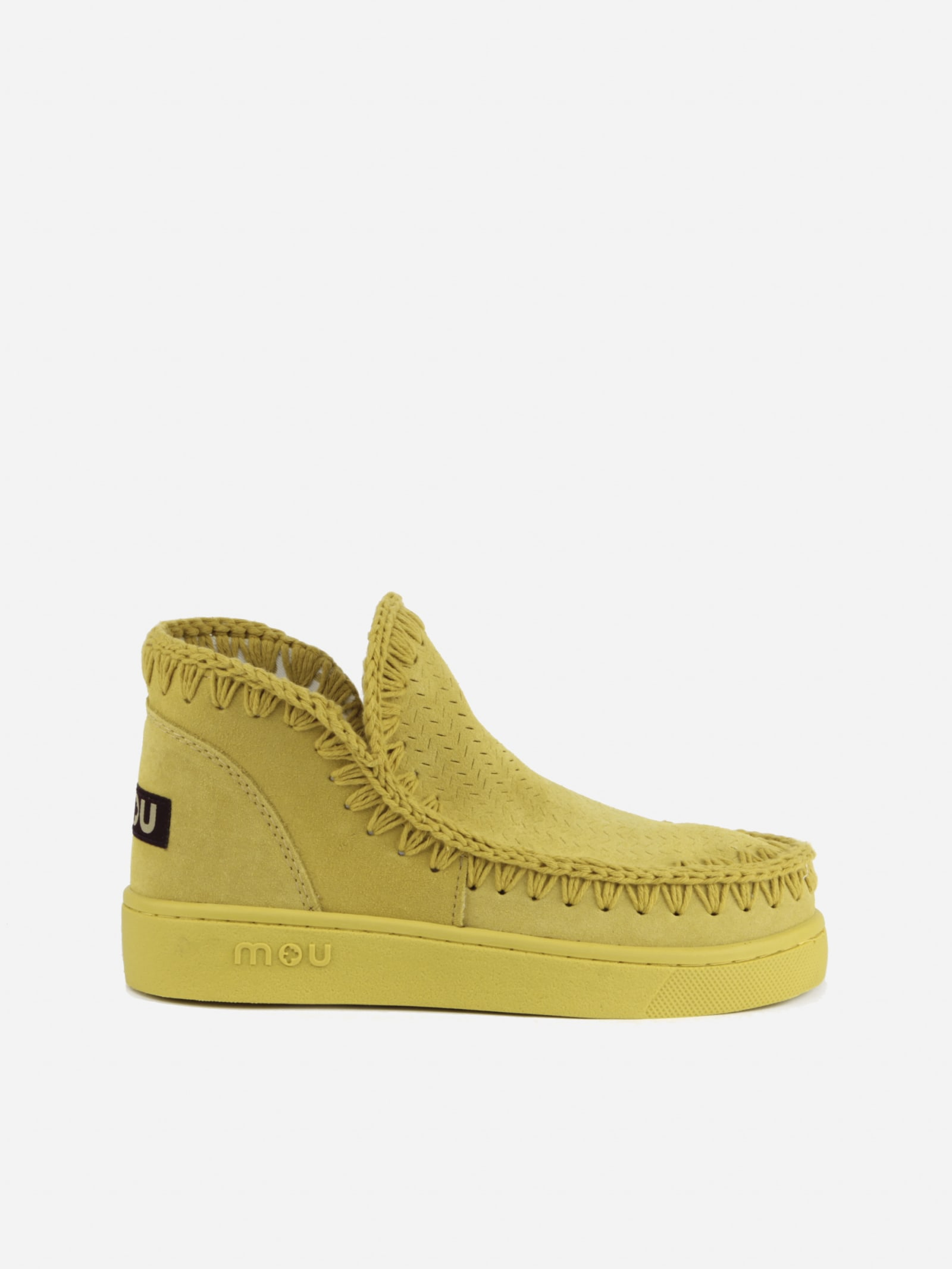 Mou Suedes ESKIMO SNEAKER BOOTS IN PERFORATED SUEDE