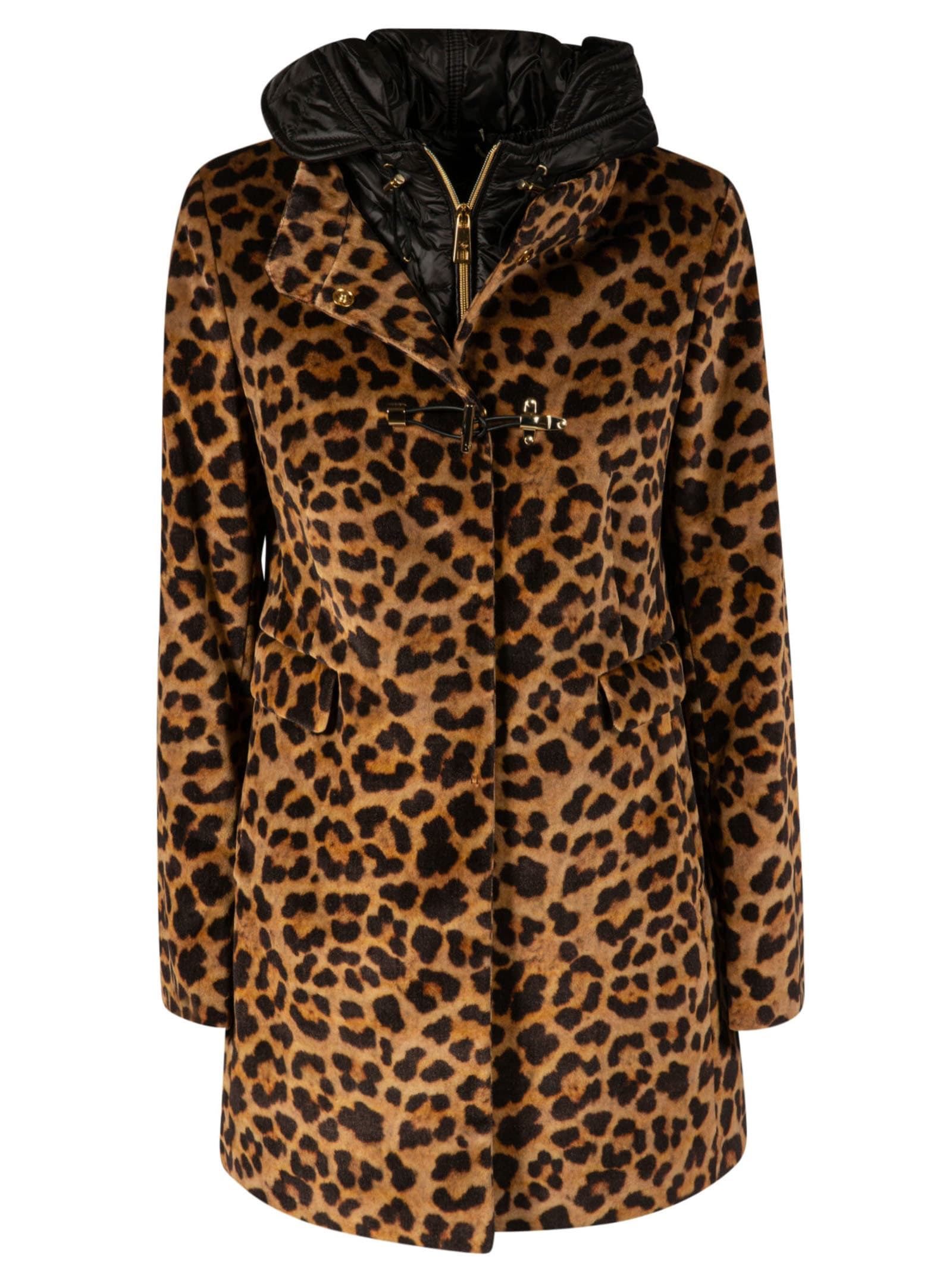 Leopard Print Parka from FayComposition: 100% Cotton