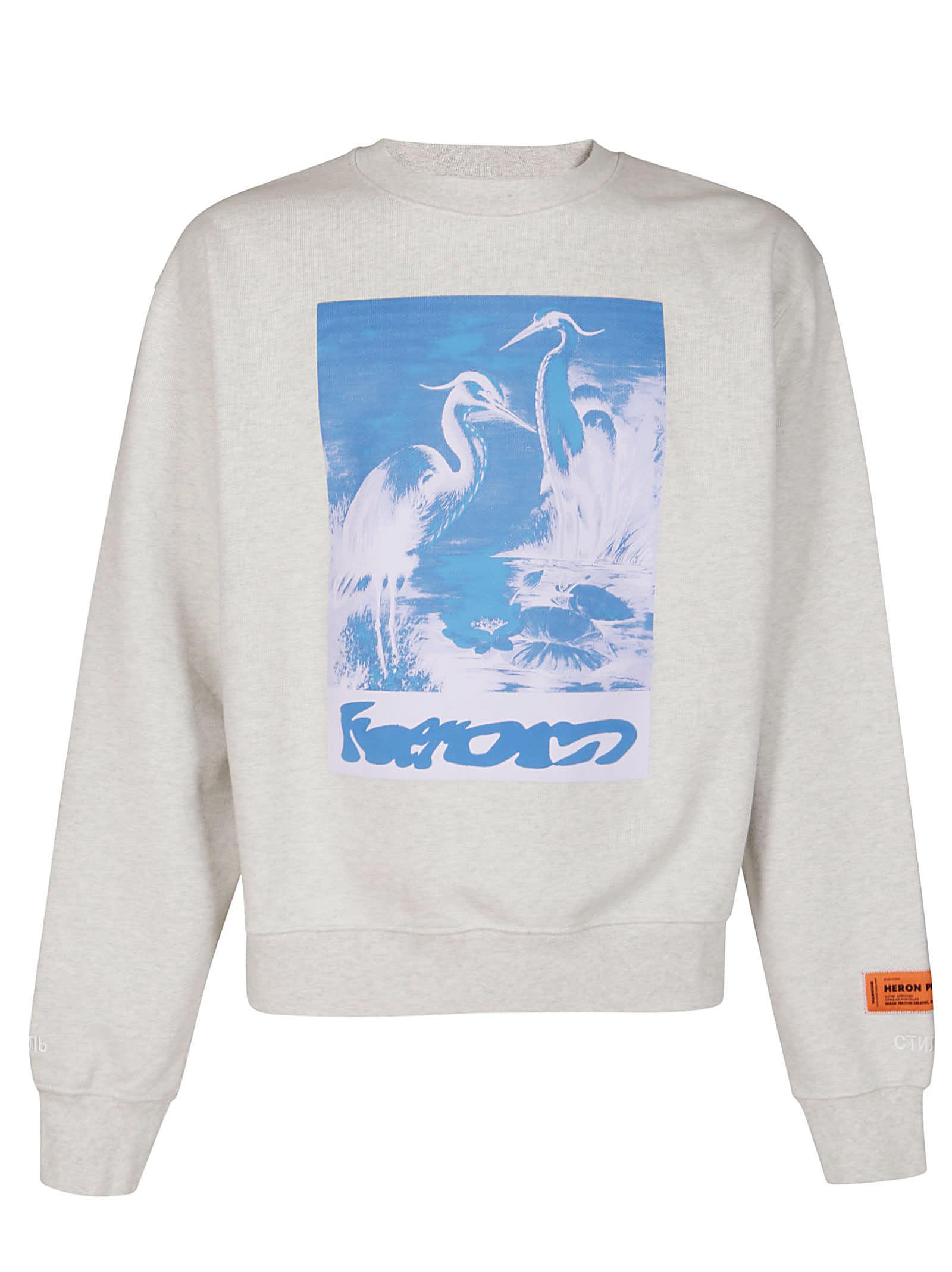 Heron Preston Cottons WHITE COTTON SWEATSHIRT