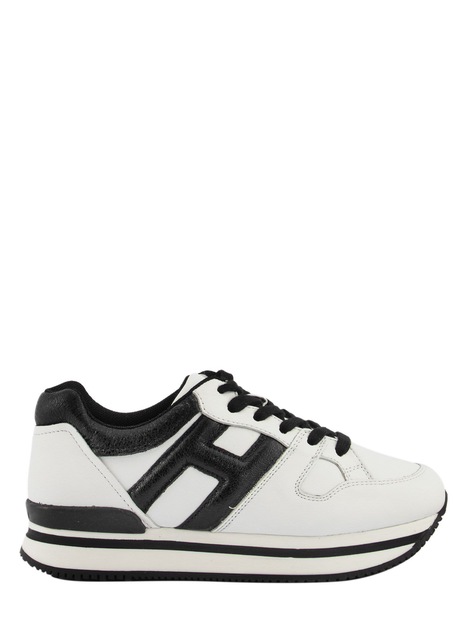 Hogan Kids' Sneakers H222 Black, White In White / Black | ModeSens