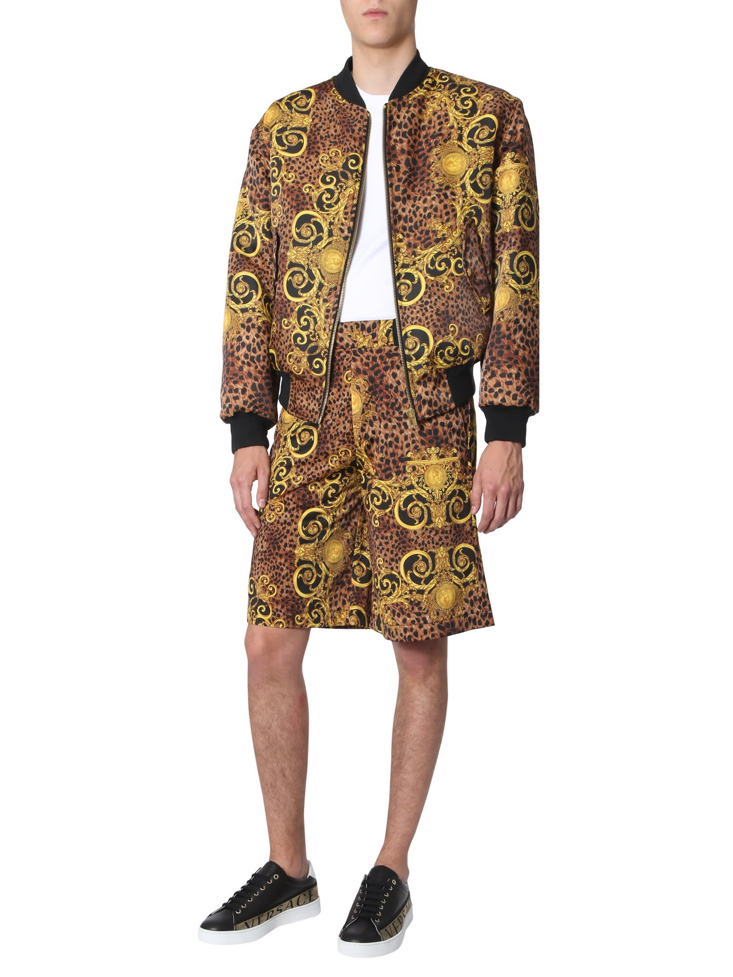 66237b42d Versace Jeans Couture Leo Baroque Print Bomber