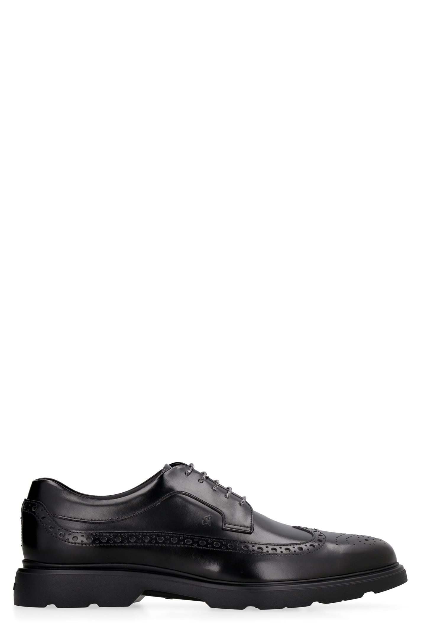 Hogan H393 LEATHER BROGUES LACE-UP SHOES