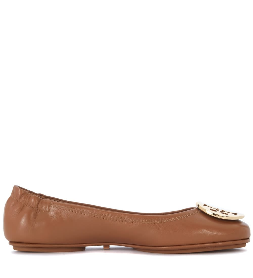 Buy Ballerina Tory Burch Minnie Travel In Nappa Cuoio online, shop Tory Burch shoes with free shipping