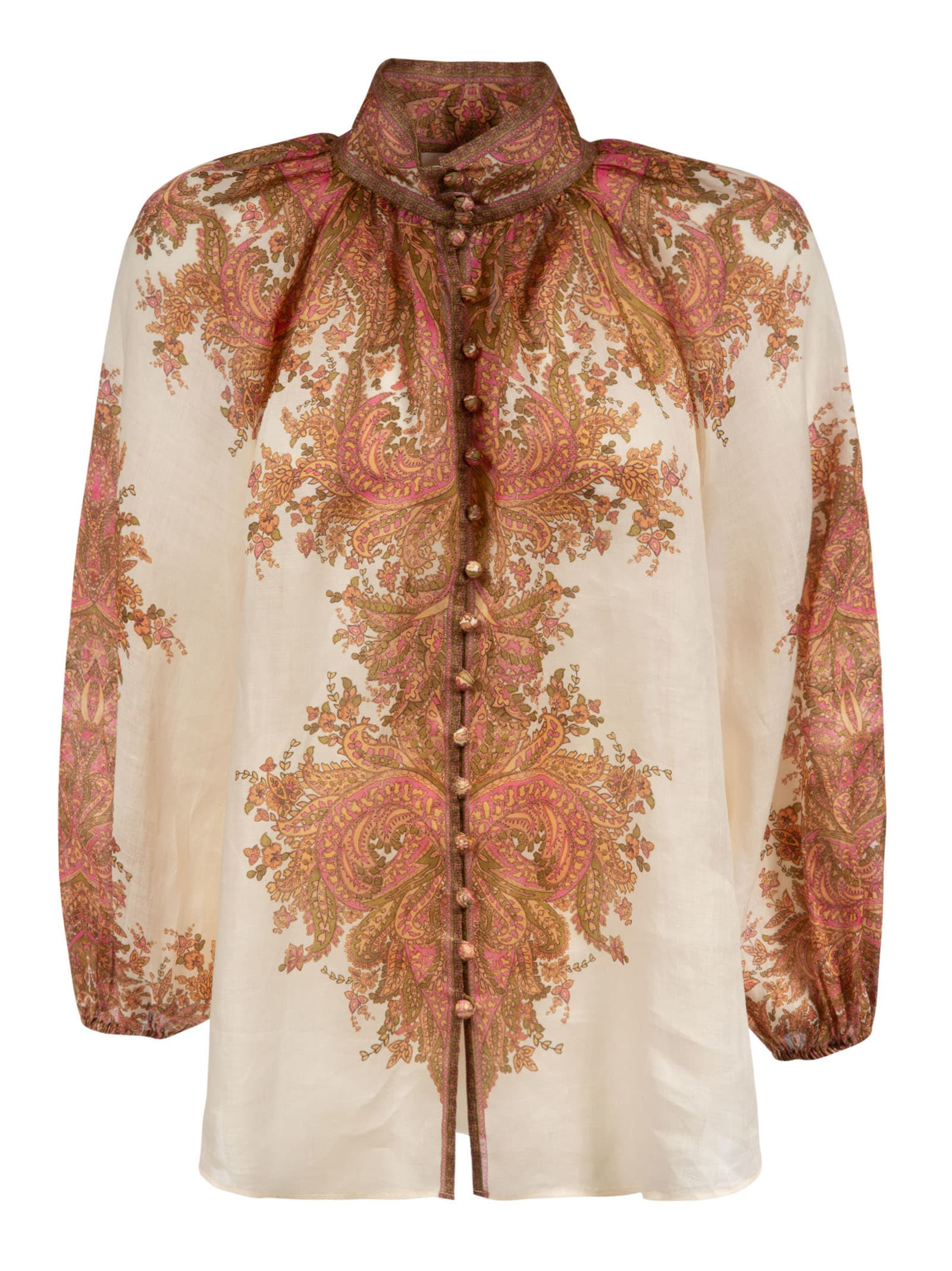 Zimmermann PRINTED BLOUSE