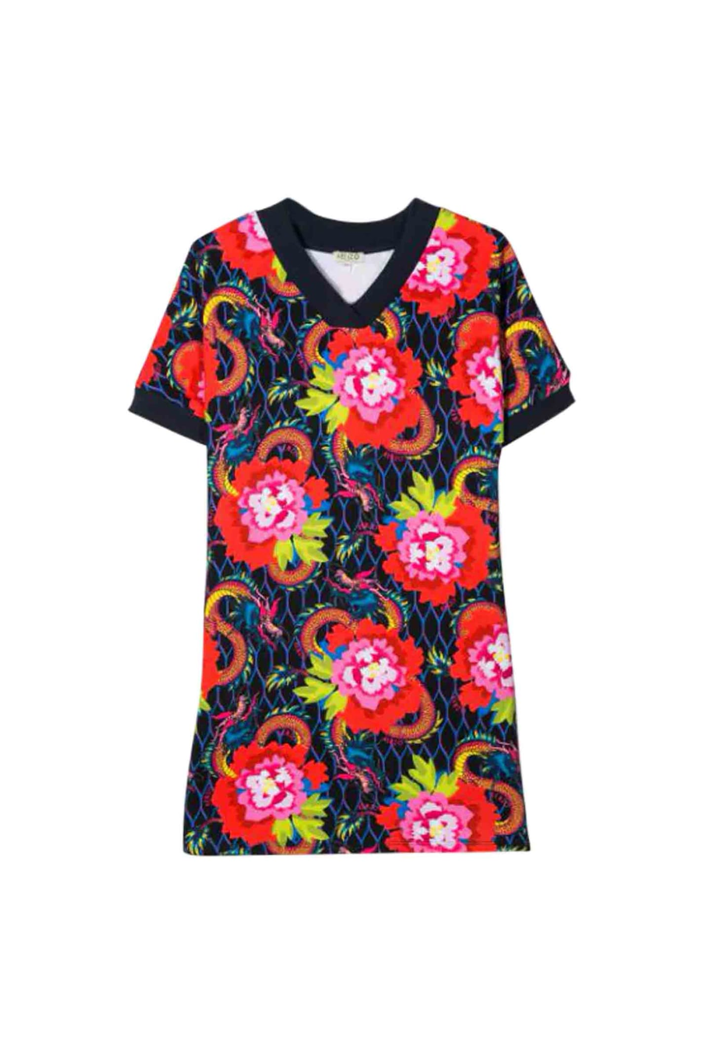 Kenzo Style Dress T-shirt Flower