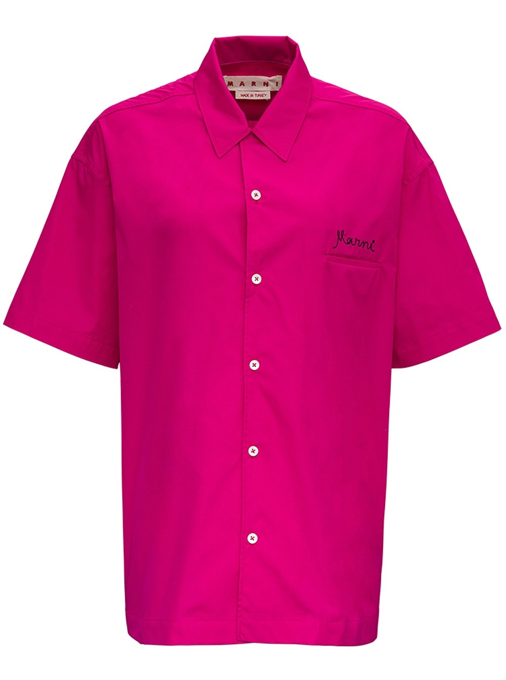 Marni PINK COTTON SHIRT WITH LOGO