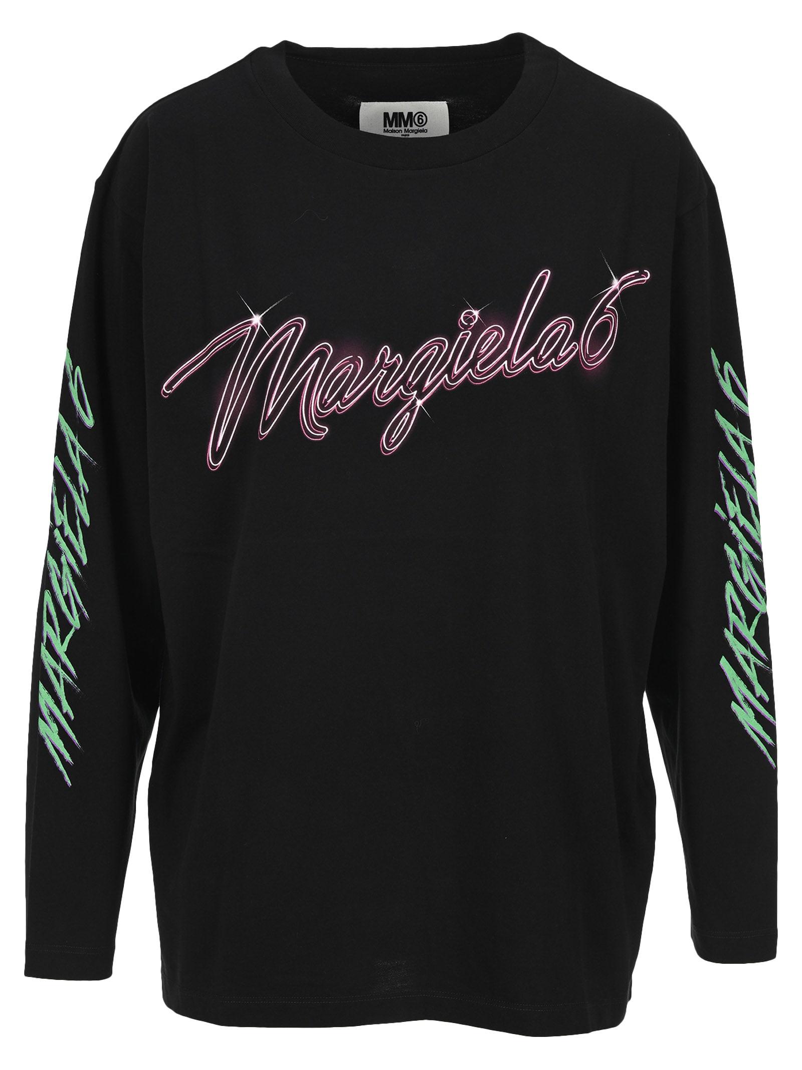 Mm6 Logo Print Long Sleeves T-shirt