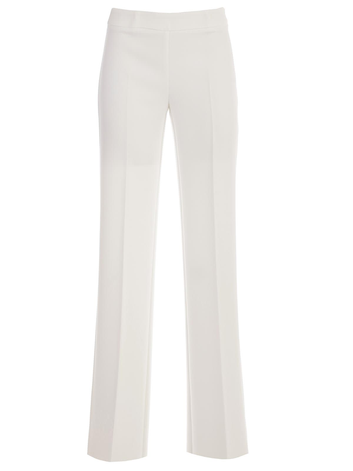 Wide Leg Trousers from A.R.O.H. : Cream Wide Leg Trousers with elasticated waistband, regular length and concealed side zip fastening