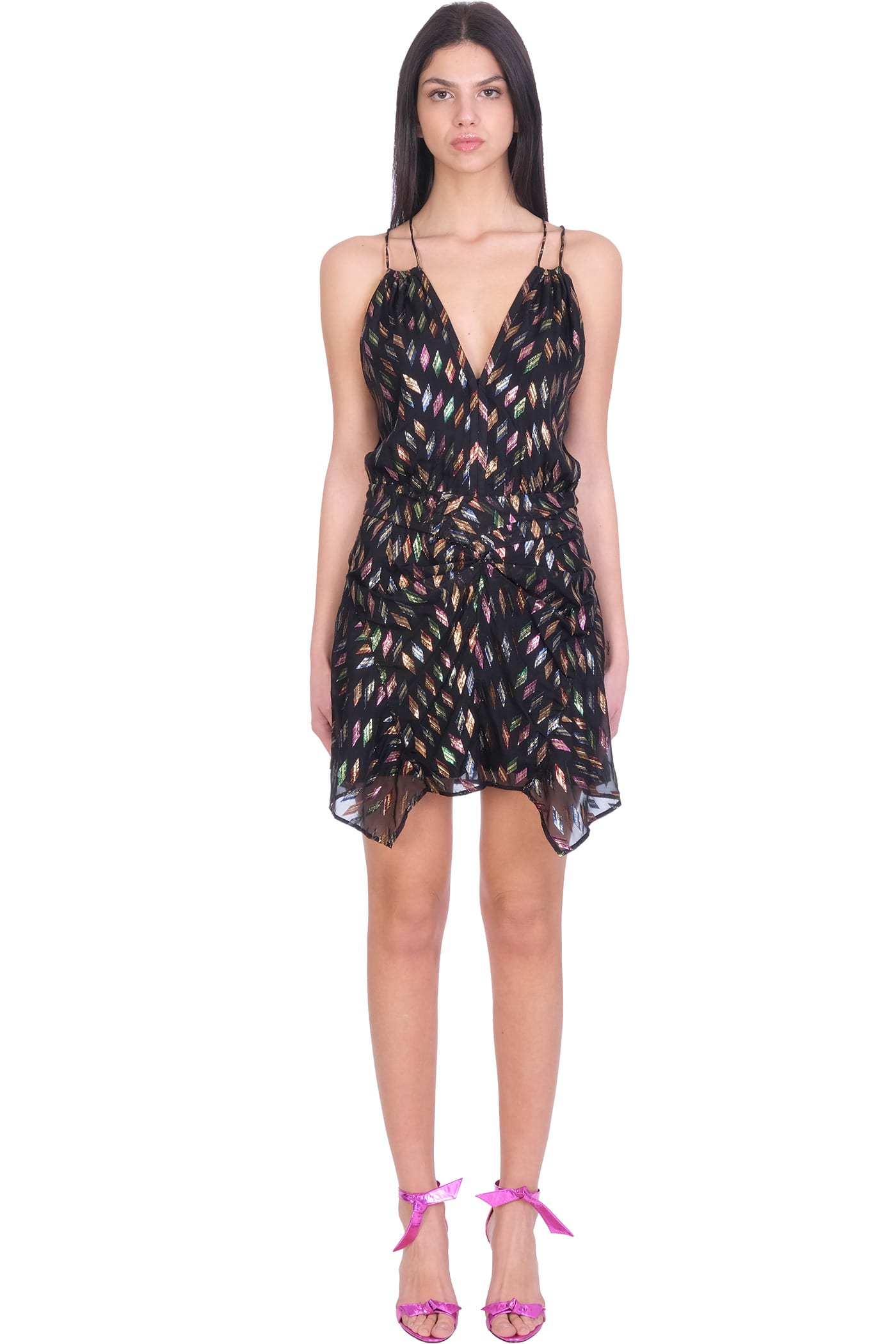 Buy IRO Cherrie Dress In Multicolor Viscose online, shop IRO with free shipping