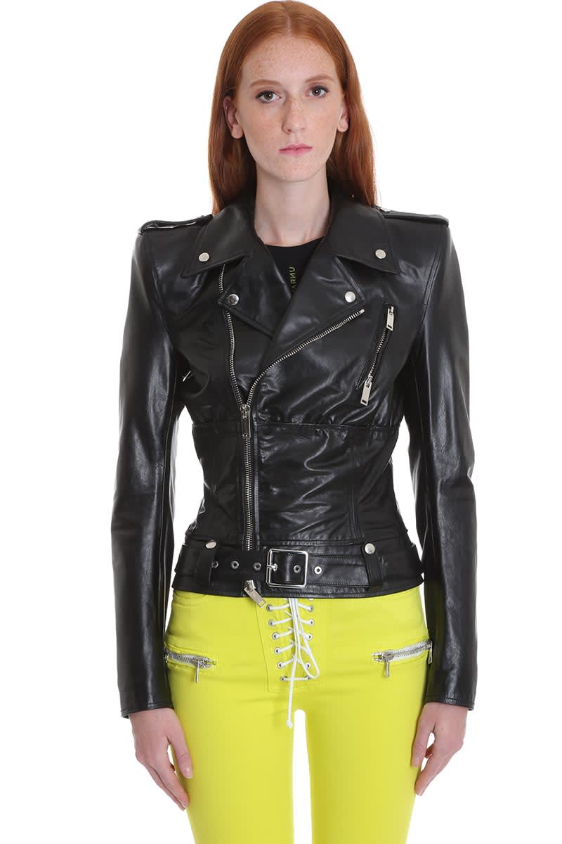 Ben Taverniti Unravel Project Leather Jacket In Black Leather