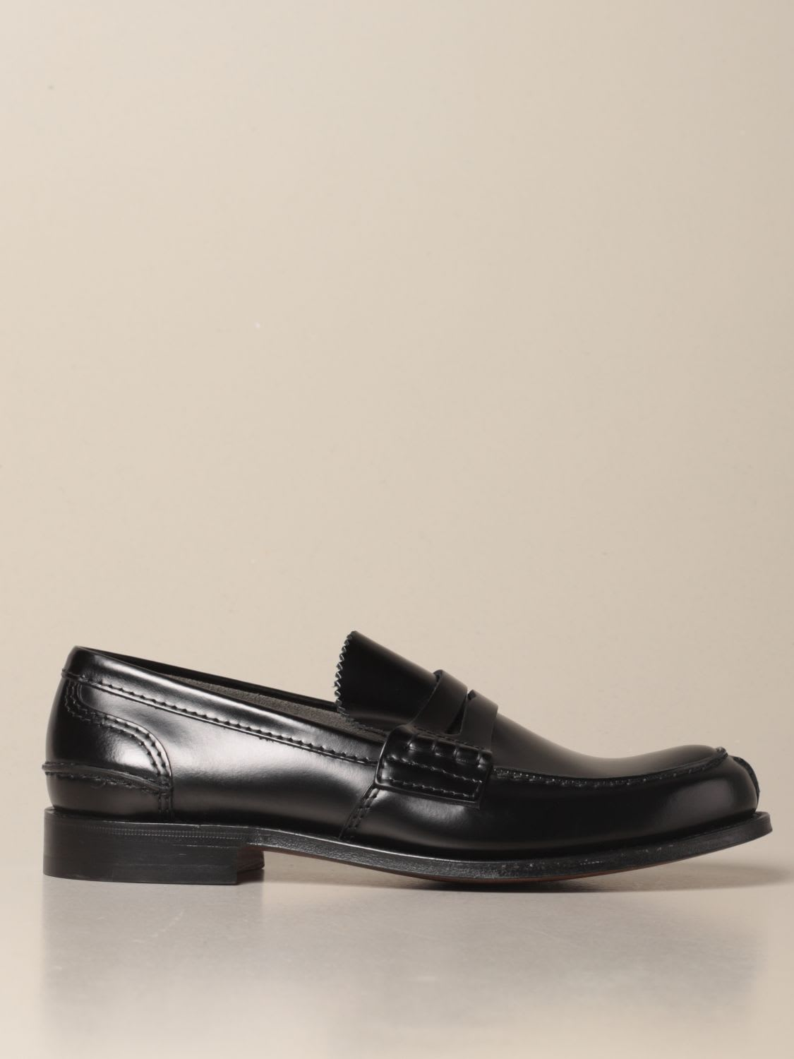 Church's TUNBRIDGE LOAFER IN BRUSHED LEATHER
