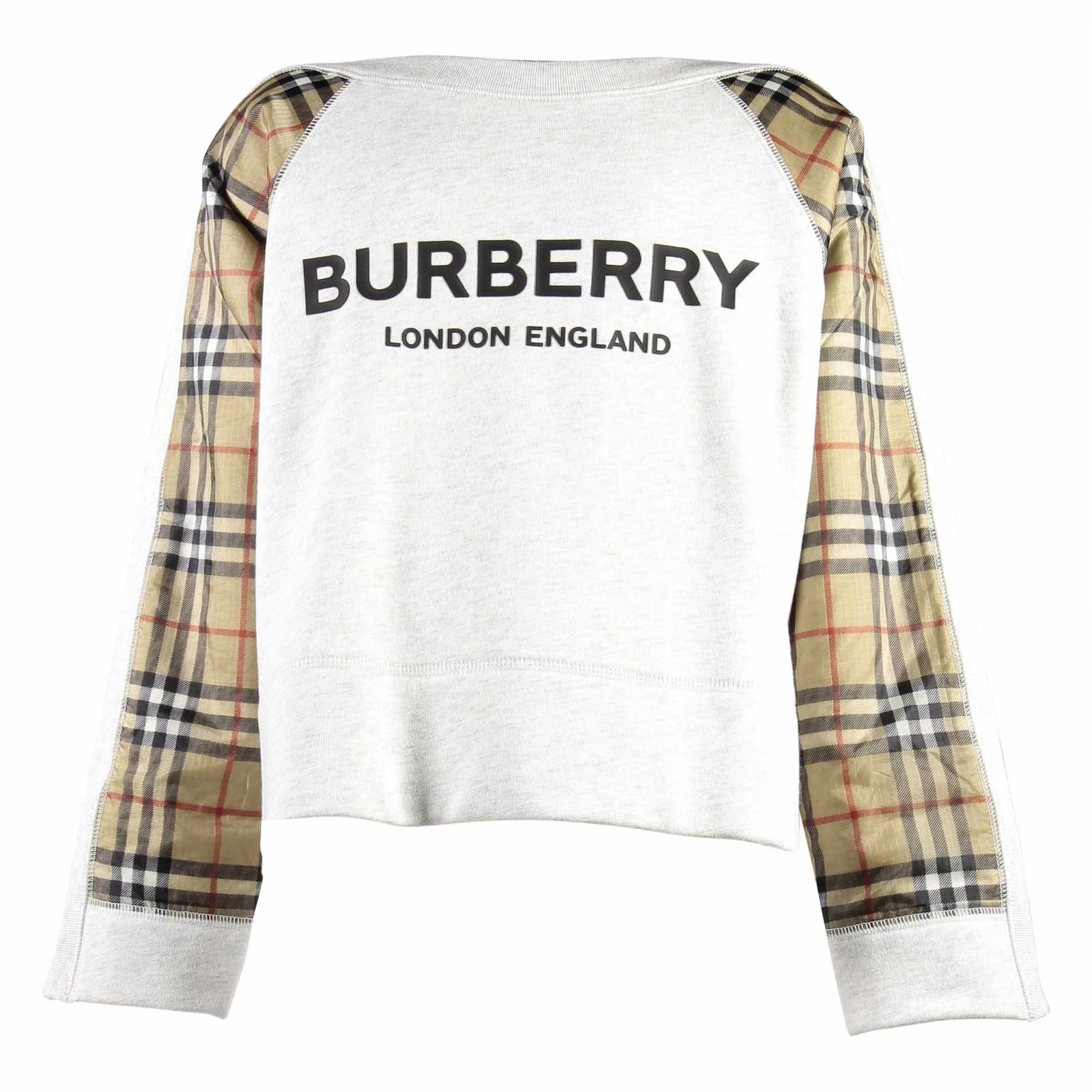 Burberry Kids' Sweater In Bianco/check