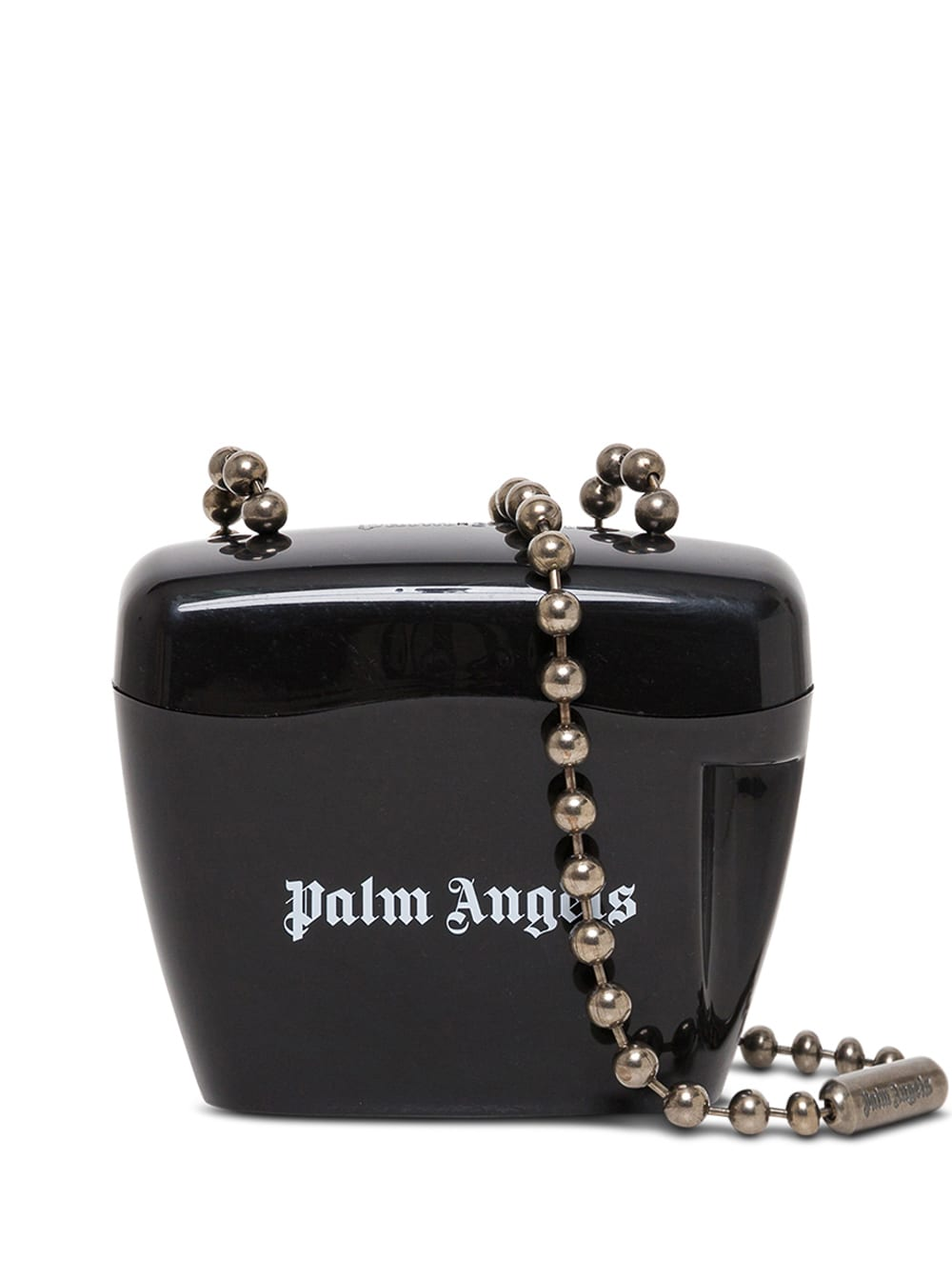 Palm Angels Mini Padlock Black Crossbody Bag With Logo Print