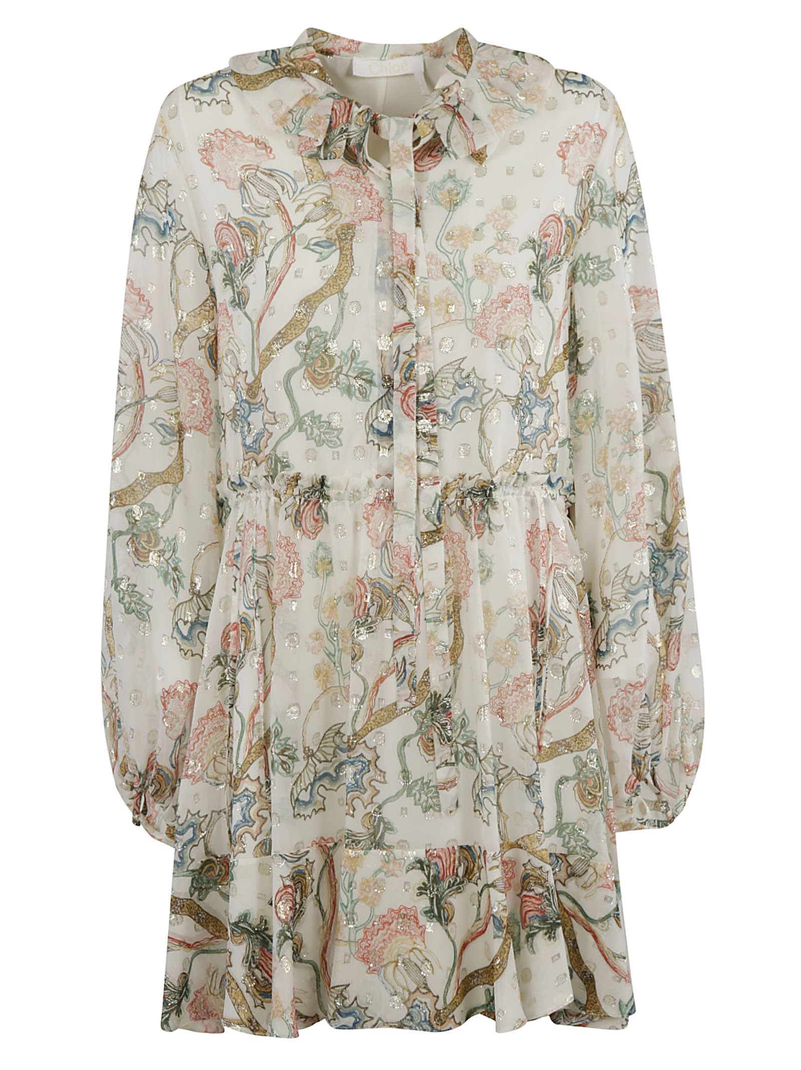 Buy Chloé Floral Print Crystal-embellished Dress online, shop Chloé with free shipping
